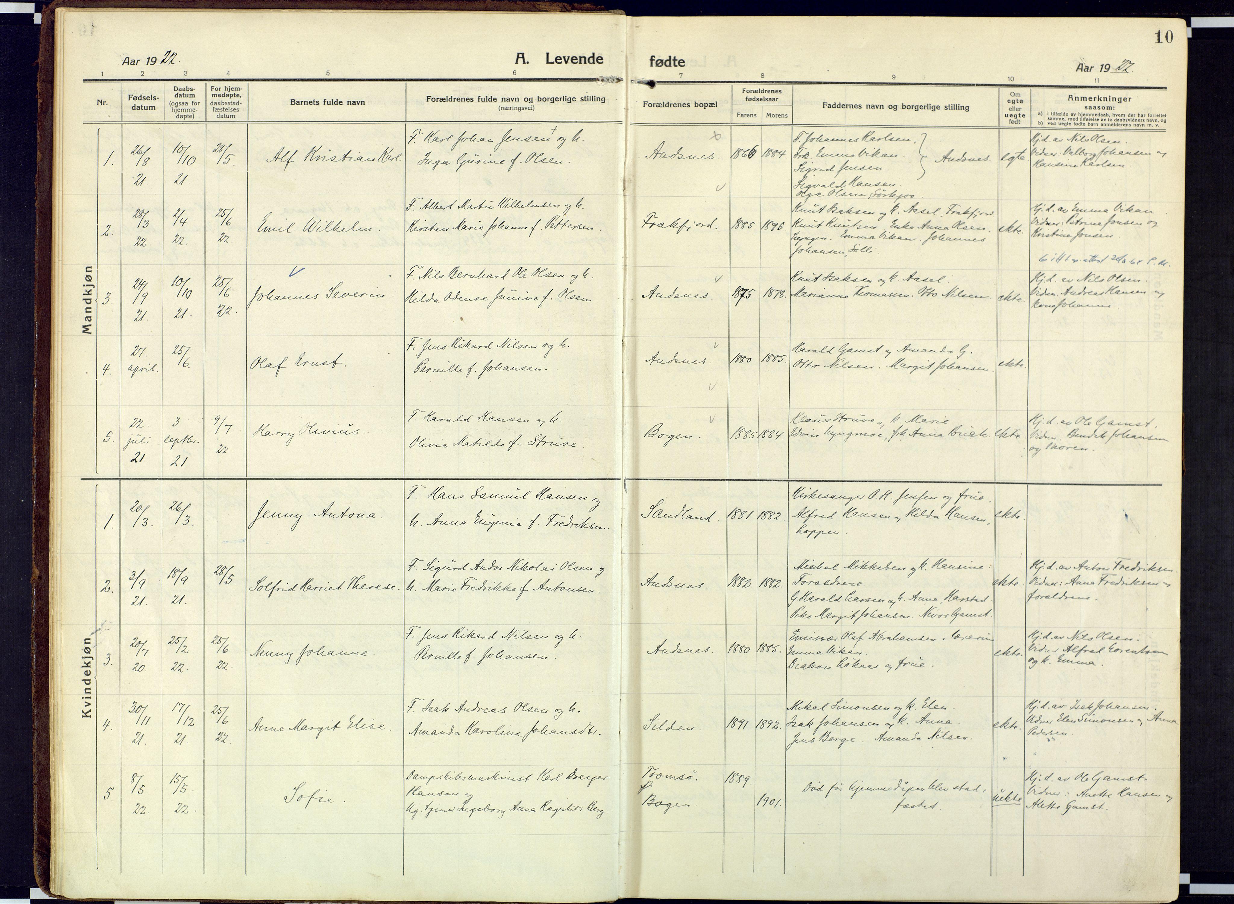 SATØ, Loppa sokneprestkontor, H/Ha/L0013kirke: Ministerialbok nr. 13, 1920-1932, s. 10