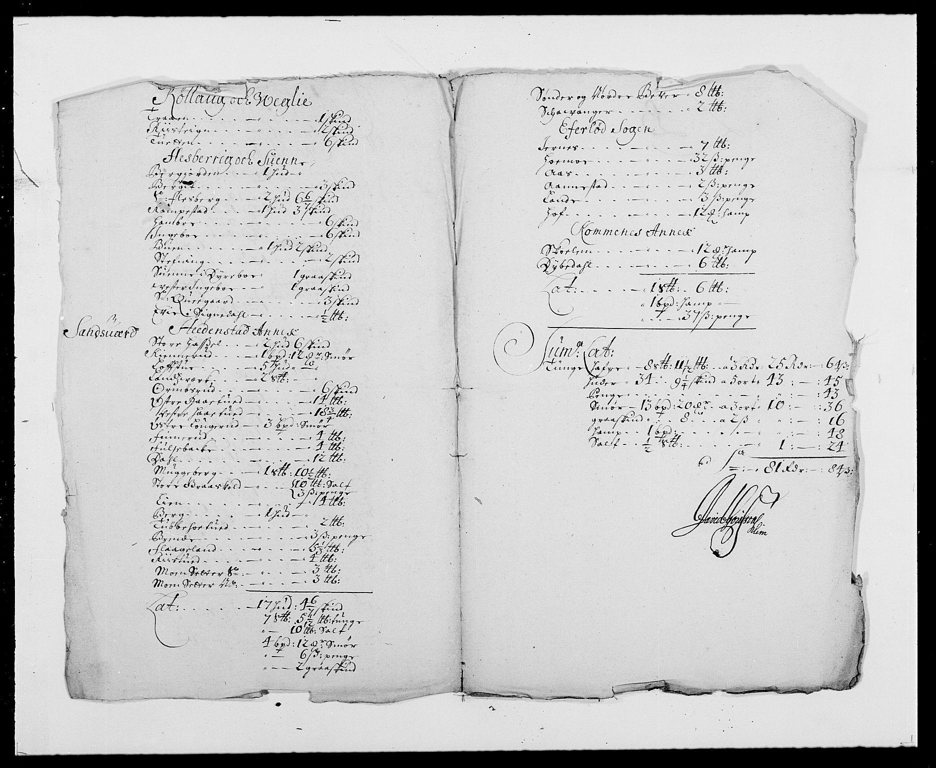 RA, Rentekammeret inntil 1814, Reviderte regnskaper, Fogderegnskap, R24/L1573: Fogderegnskap Numedal og Sandsvær, 1687-1691, s. 268