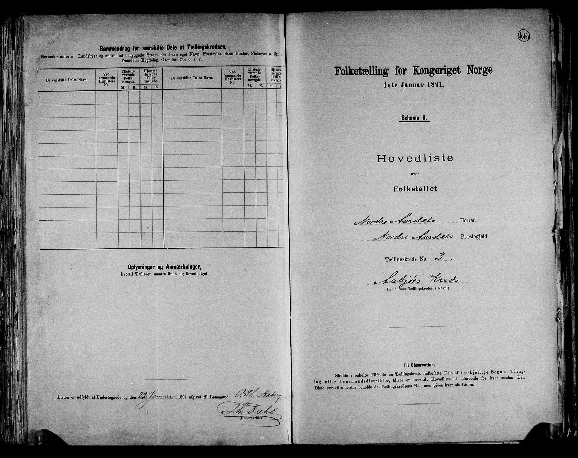 RA, Folketelling 1891 for 0542 Nord-Aurdal herred, 1891, s. 10