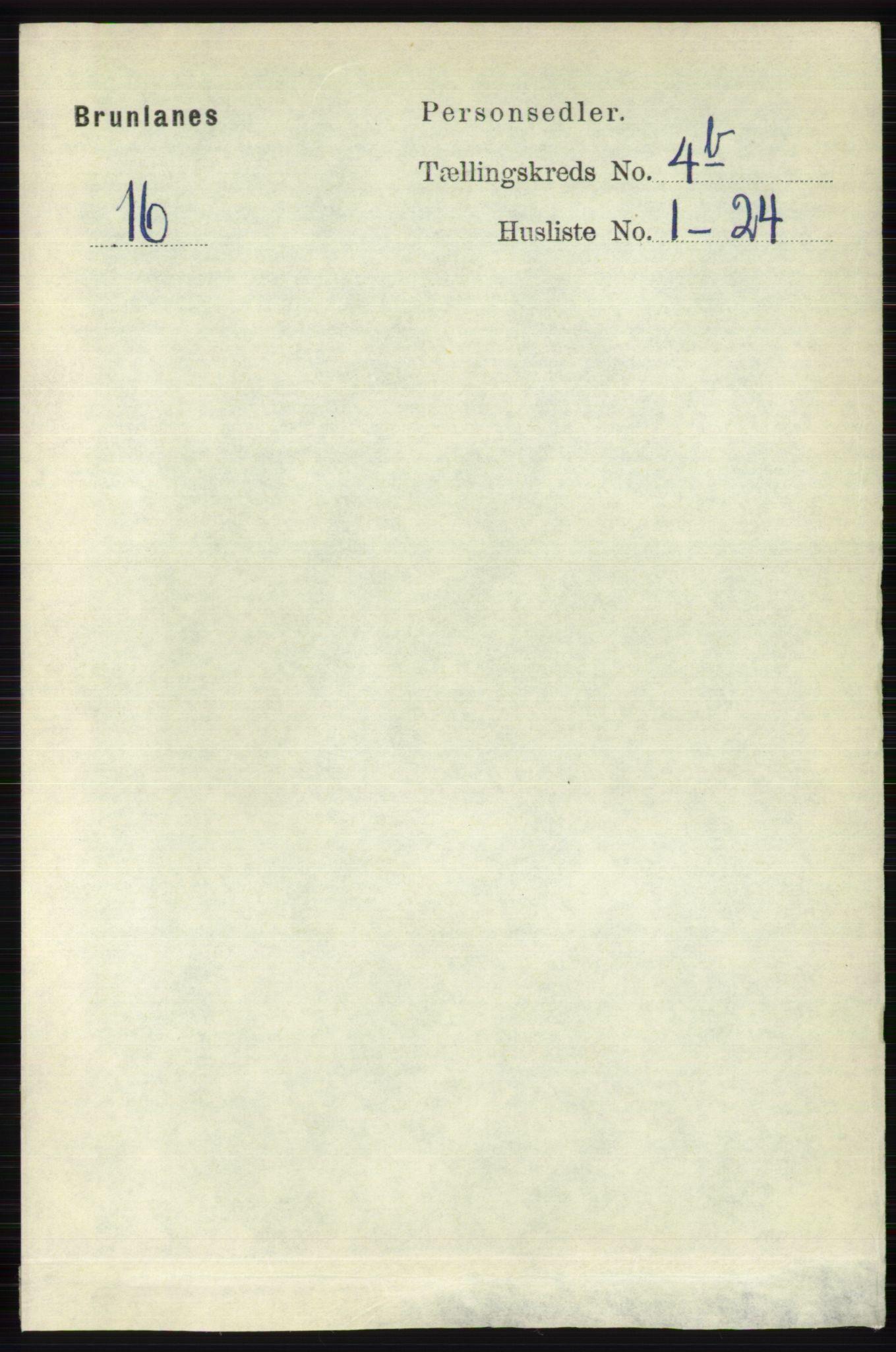 RA, Folketelling 1891 for 0726 Brunlanes herred, 1891, s. 2031