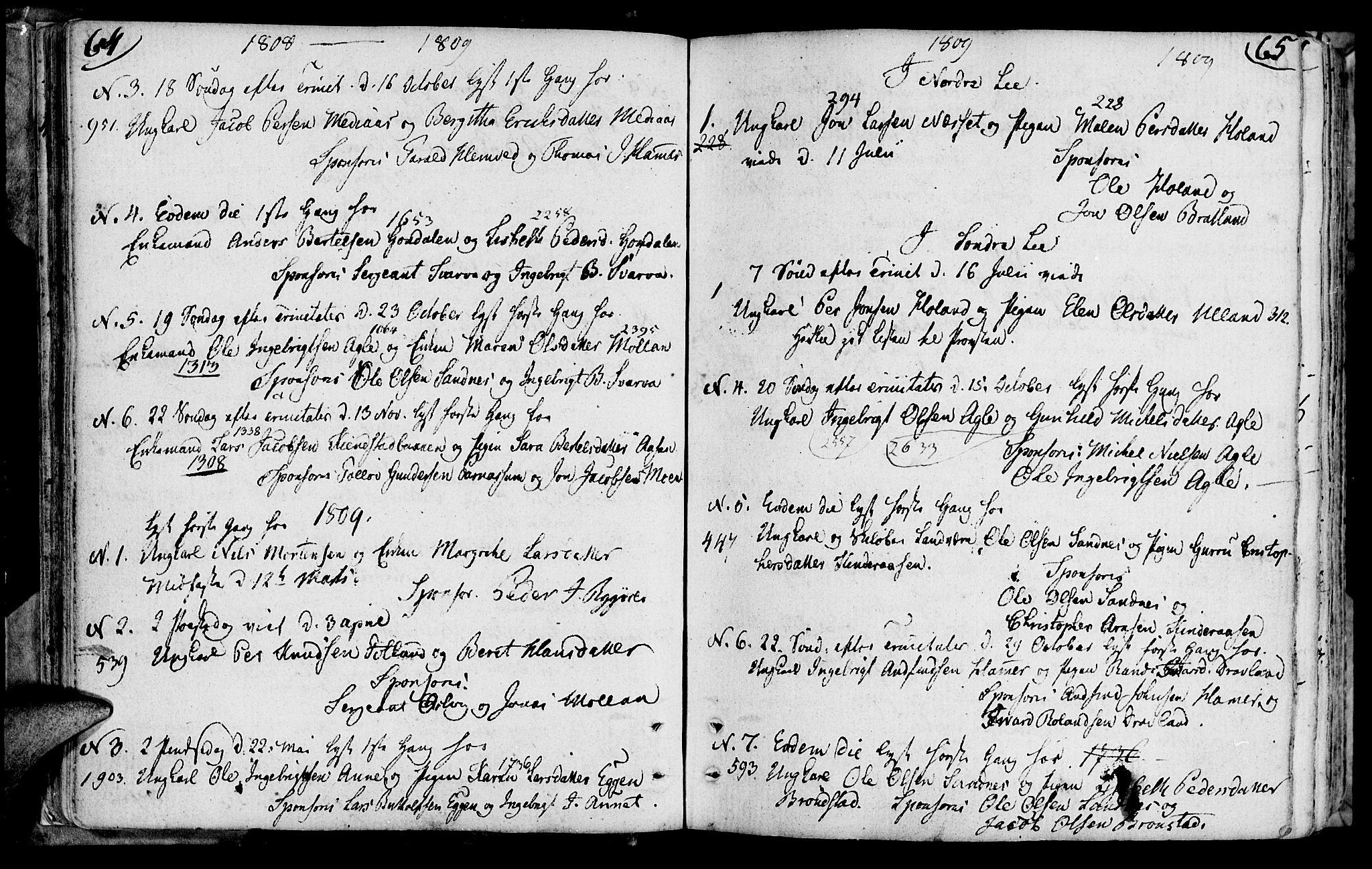 SAT, Ministerialprotokoller, klokkerbøker og fødselsregistre - Nord-Trøndelag, 749/L0468: Ministerialbok nr. 749A02, 1787-1817, s. 64-65