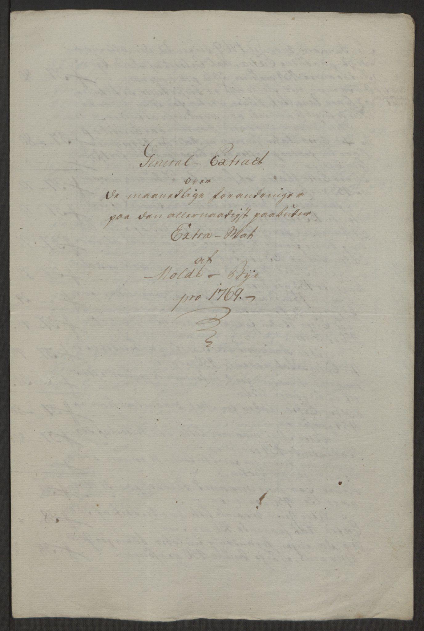 RA, Rentekammeret inntil 1814, Reviderte regnskaper, Byregnskaper, R/Rq/L0487: [Q1] Kontribusjonsregnskap, 1762-1772, s. 176