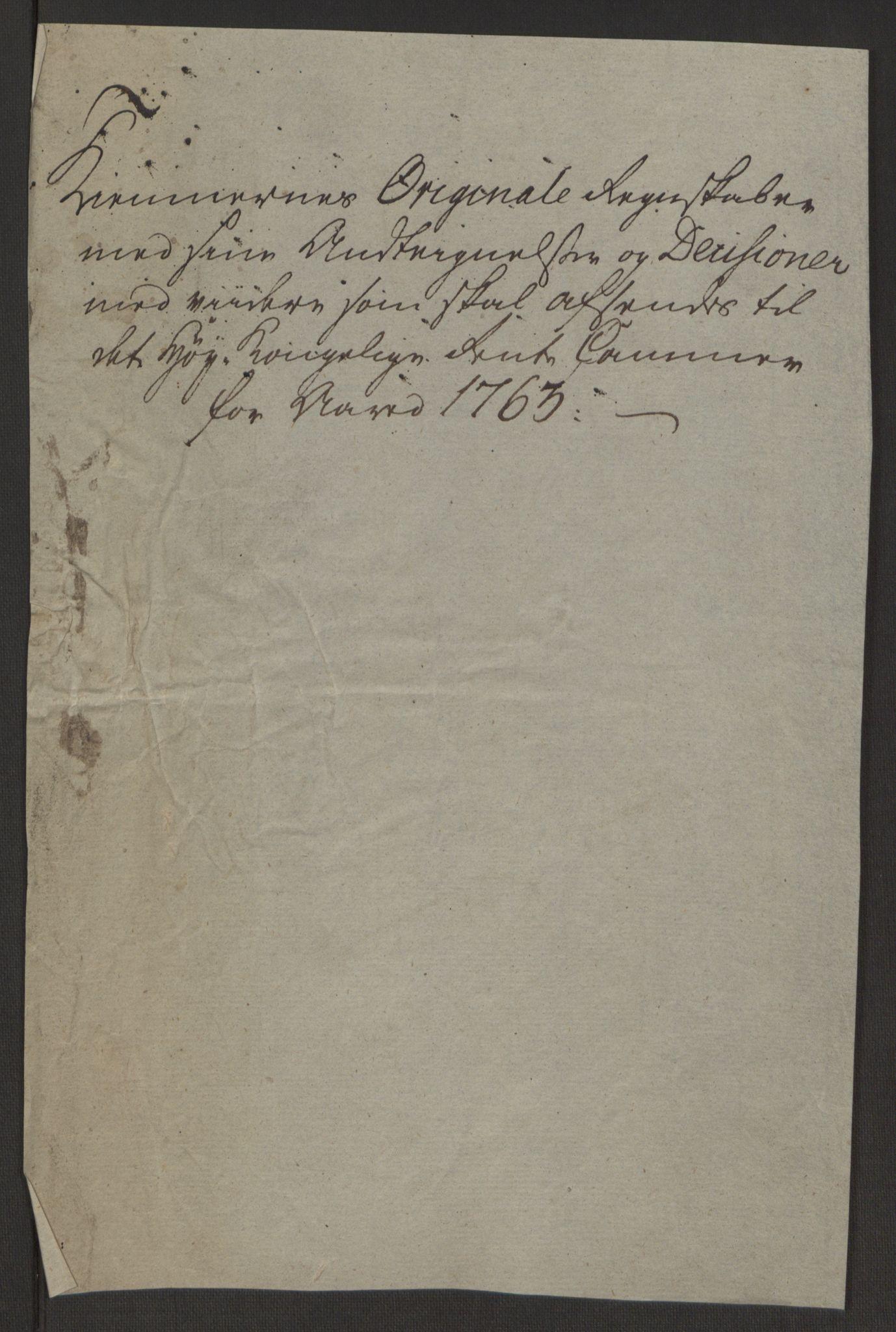 RA, Rentekammeret inntil 1814, Reviderte regnskaper, Byregnskaper, R/Rp/L0366: [P20] Kontribusjonsregnskap, 1763, s. 10