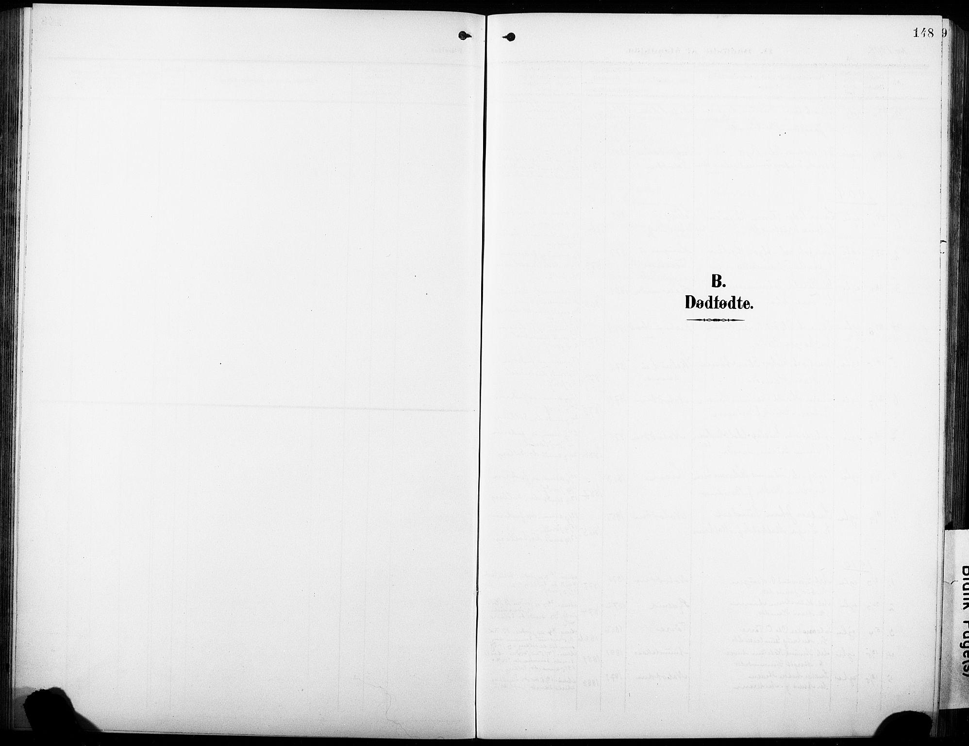 SAKO, Heddal kirkebøker, G/Ga/L0003: Klokkerbok nr. I 3, 1908-1932, s. 148