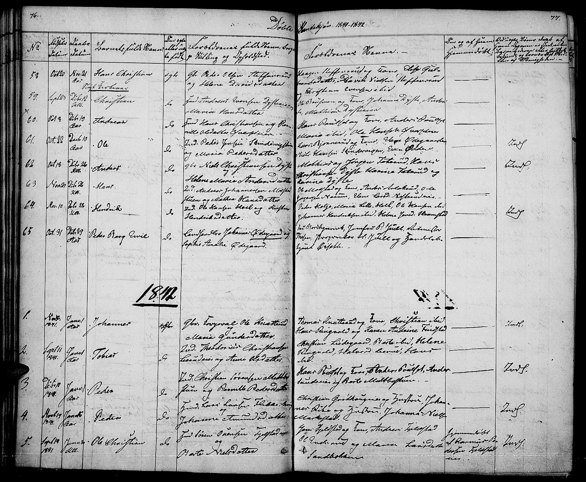 SAH, Vestre Toten prestekontor, Ministerialbok nr. 3, 1836-1843, s. 76-77