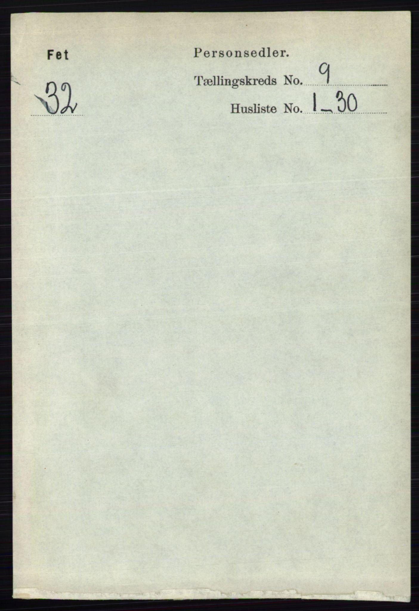 RA, Folketelling 1891 for 0227 Fet herred, 1891, s. 3498