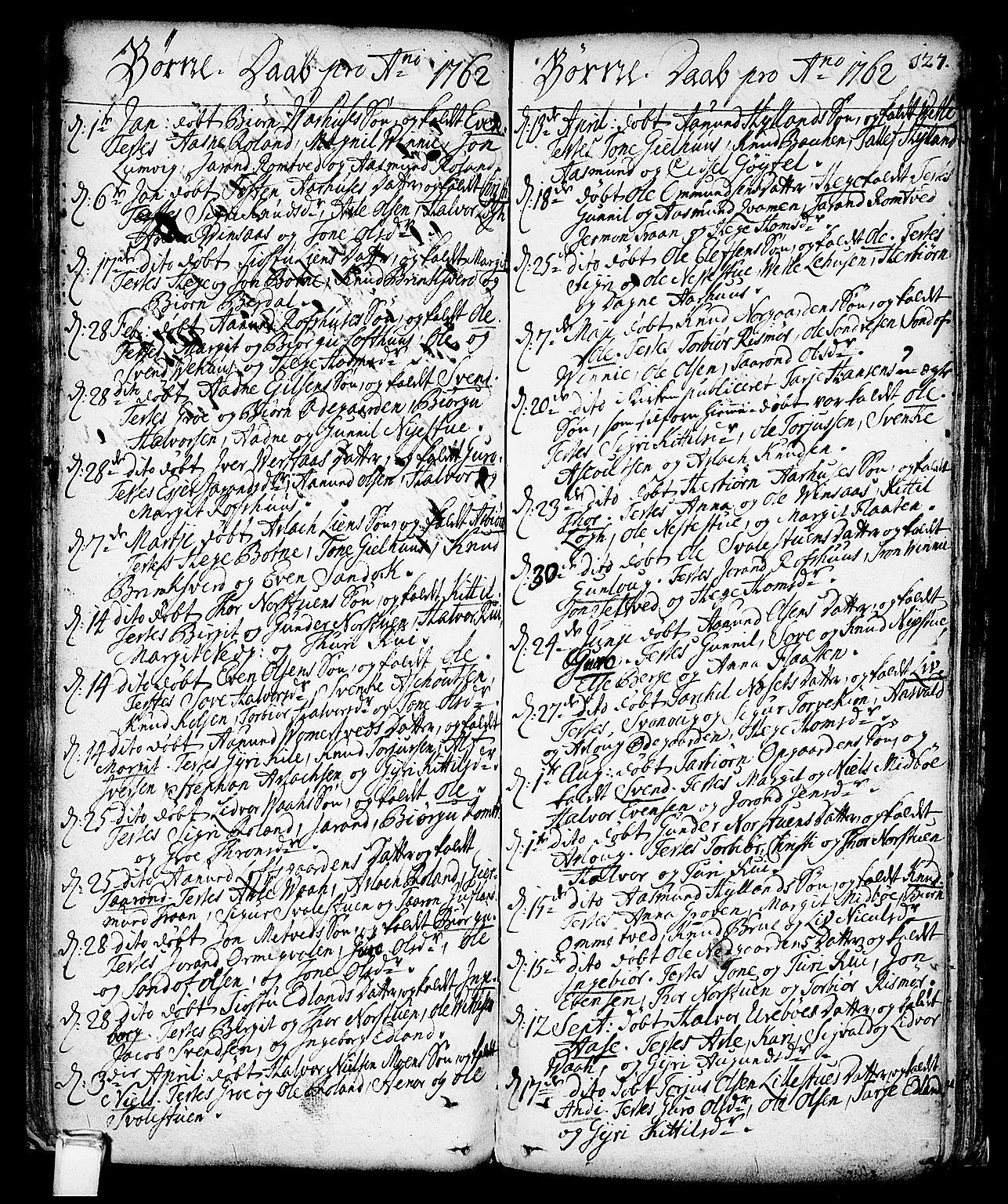 SAKO, Vinje kirkebøker, F/Fa/L0001: Ministerialbok nr. I 1, 1717-1766, s. 127