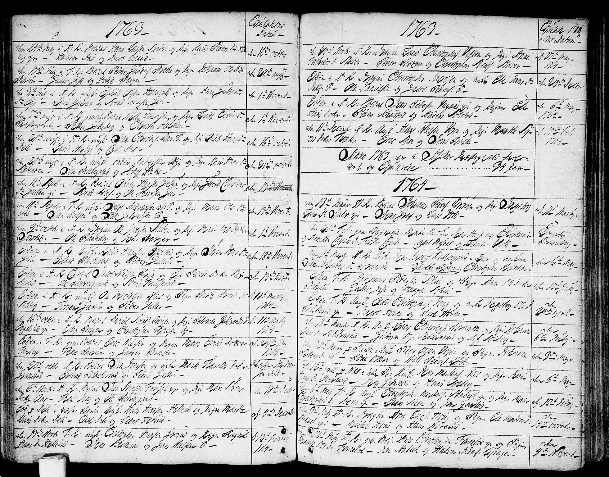 SAO, Asker prestekontor Kirkebøker, F/Fa/L0002: Ministerialbok nr. I 2, 1733-1766, s. 178