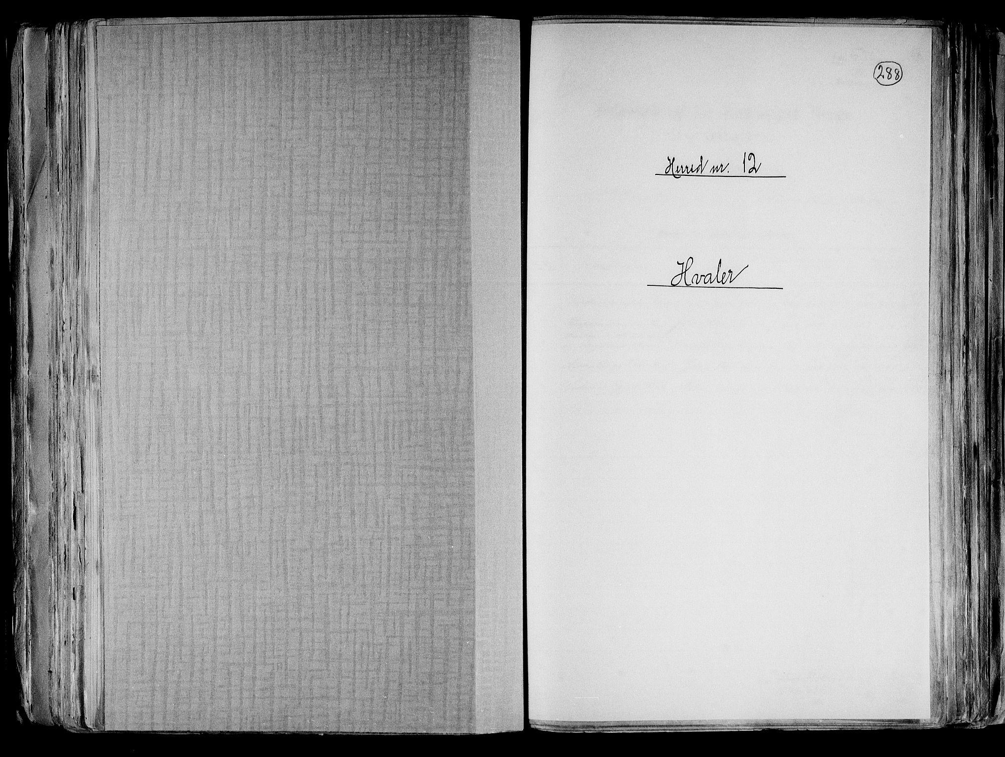 RA, Folketelling 1891 for 0111 Hvaler herred, 1891, s. 1