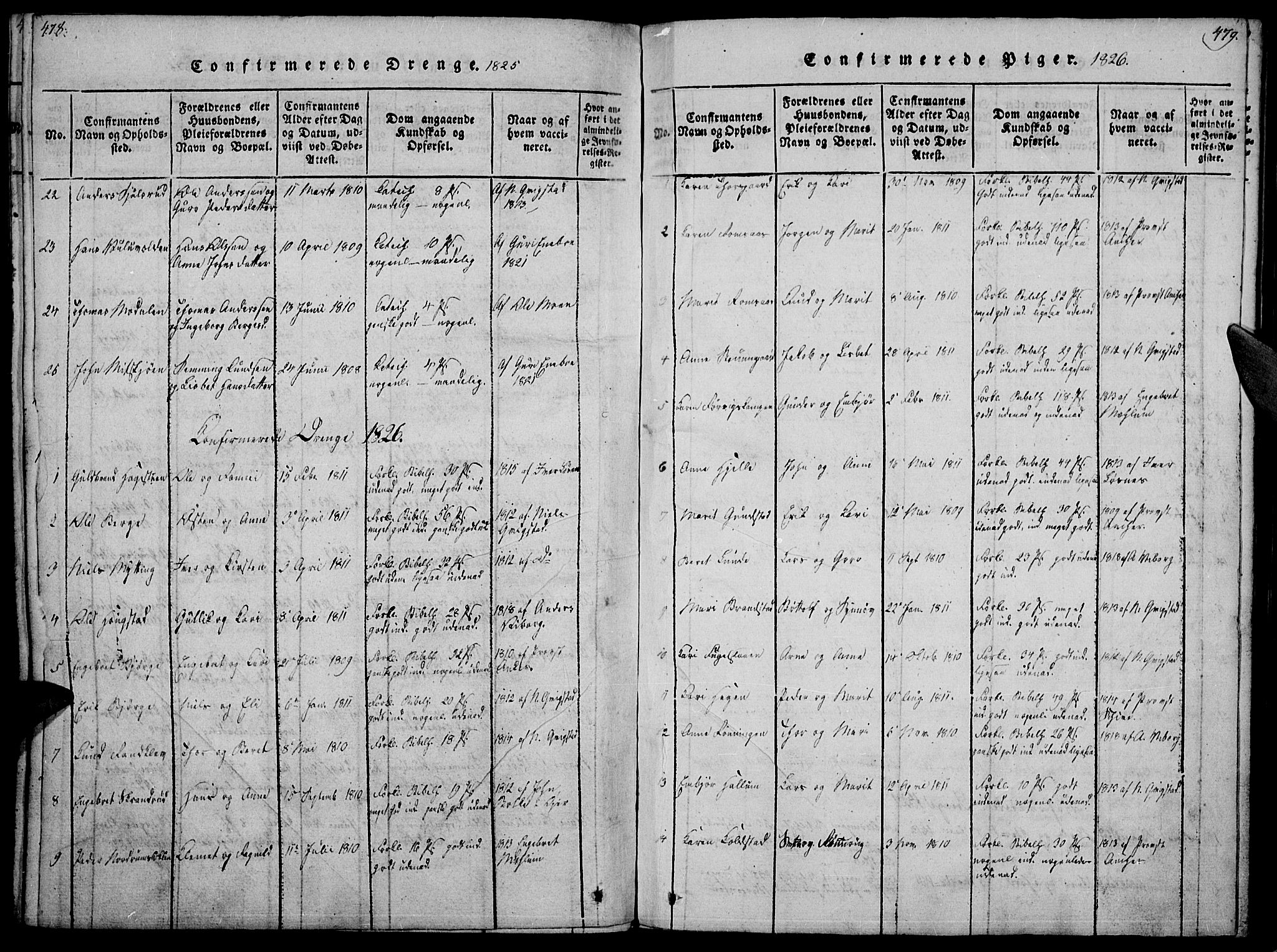 SAH, Ringebu prestekontor, Ministerialbok nr. 4, 1821-1839, s. 478-479