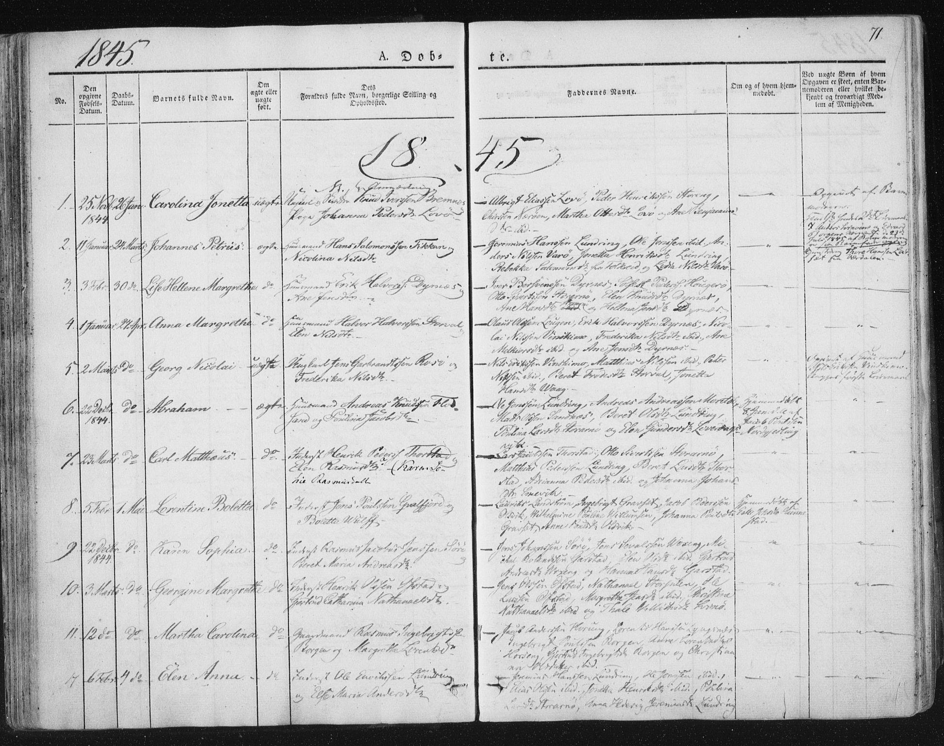 SAT, Ministerialprotokoller, klokkerbøker og fødselsregistre - Nord-Trøndelag, 784/L0669: Ministerialbok nr. 784A04, 1829-1859, s. 71
