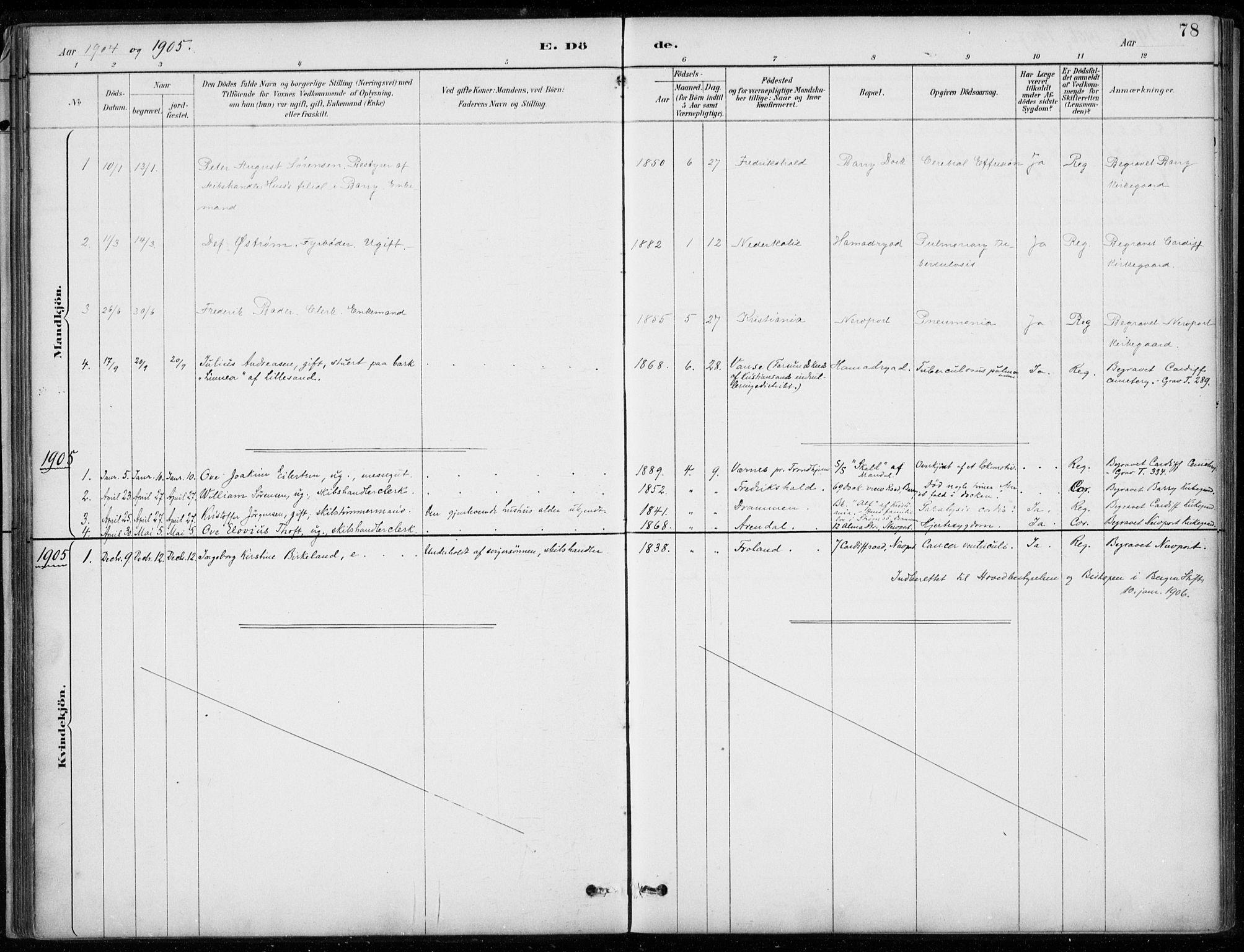 SAB, Den Norske Sjømannsmisjon i utlandet*, Ministerialbok nr. A 2, 1887-1932, s. 78