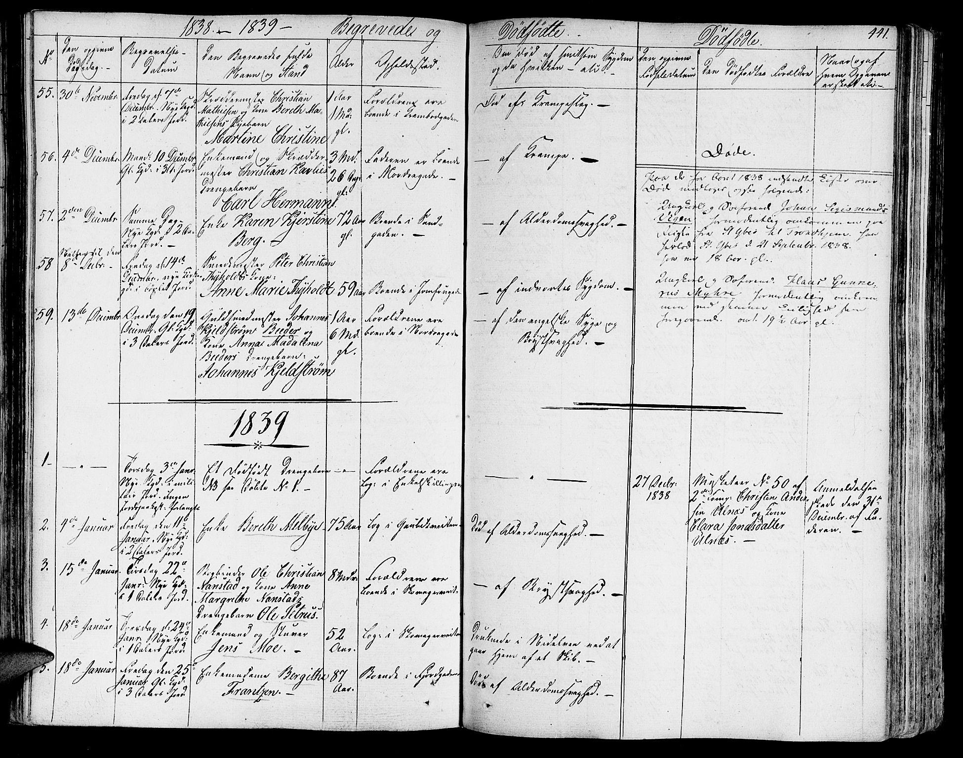SAT, Ministerialprotokoller, klokkerbøker og fødselsregistre - Sør-Trøndelag, 602/L0109: Ministerialbok nr. 602A07, 1821-1840, s. 441