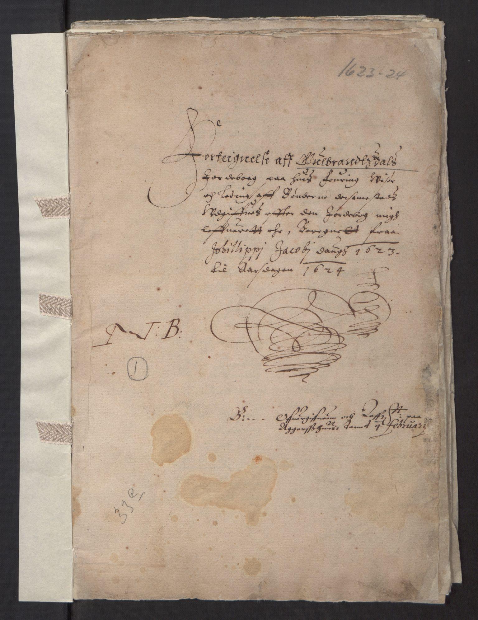 RA, Stattholderembetet 1572-1771, Ek/L0001: Jordebøker før 1624 og til utligning av garnisonsskatt 1624-1626:, 1624-1625, s. 2