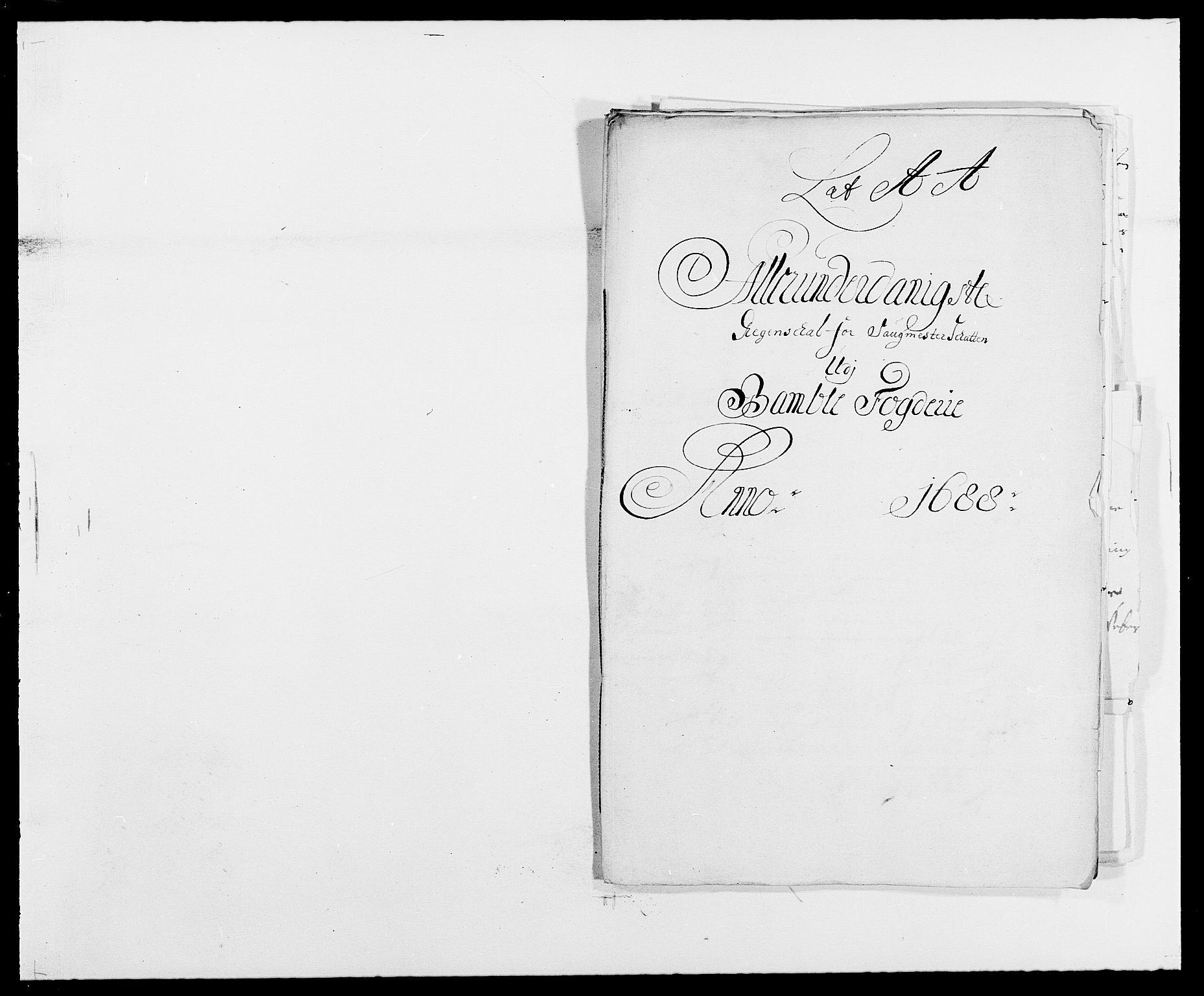 RA, Rentekammeret inntil 1814, Reviderte regnskaper, Fogderegnskap, R34/L2051: Fogderegnskap Bamble, 1688-1691, s. 80