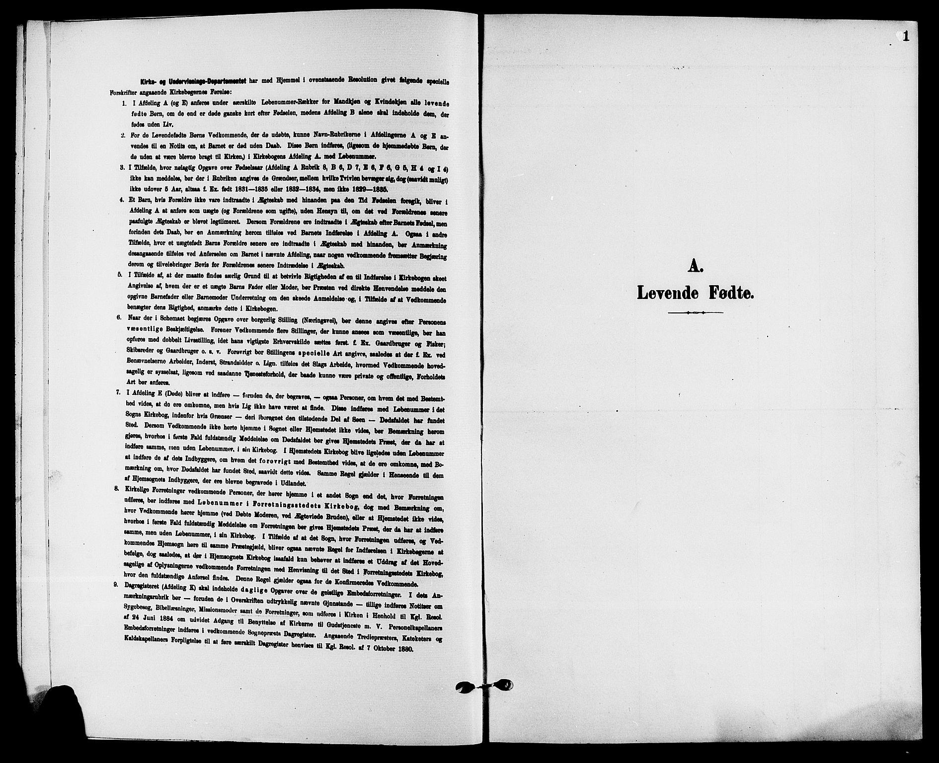 SAKO, Solum kirkebøker, G/Ga/L0008: Klokkerbok nr. I 8, 1898-1909, s. 1