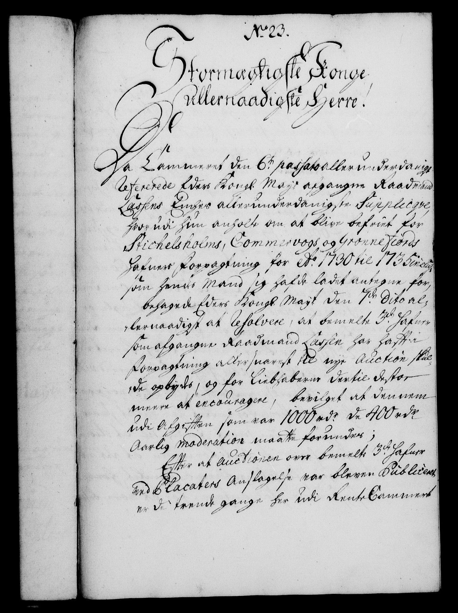 RA, Rentekammeret, Kammerkanselliet, G/Gf/Gfa/L0013: Norsk relasjons- og resolusjonsprotokoll (merket RK 52.13), 1730, s. 147