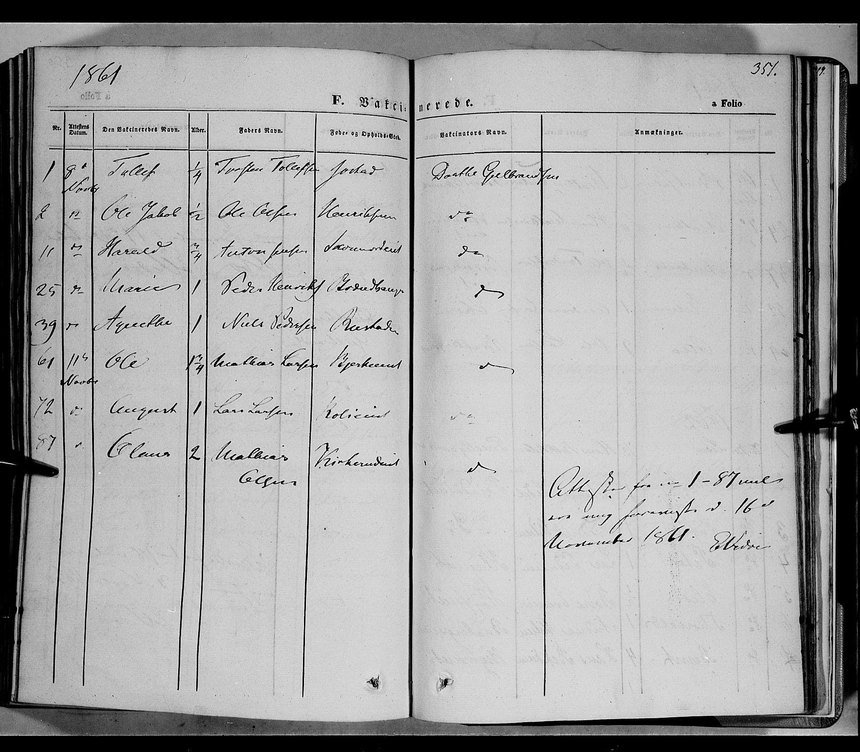 SAH, Biri prestekontor, Ministerialbok nr. 5, 1843-1854, s. 351