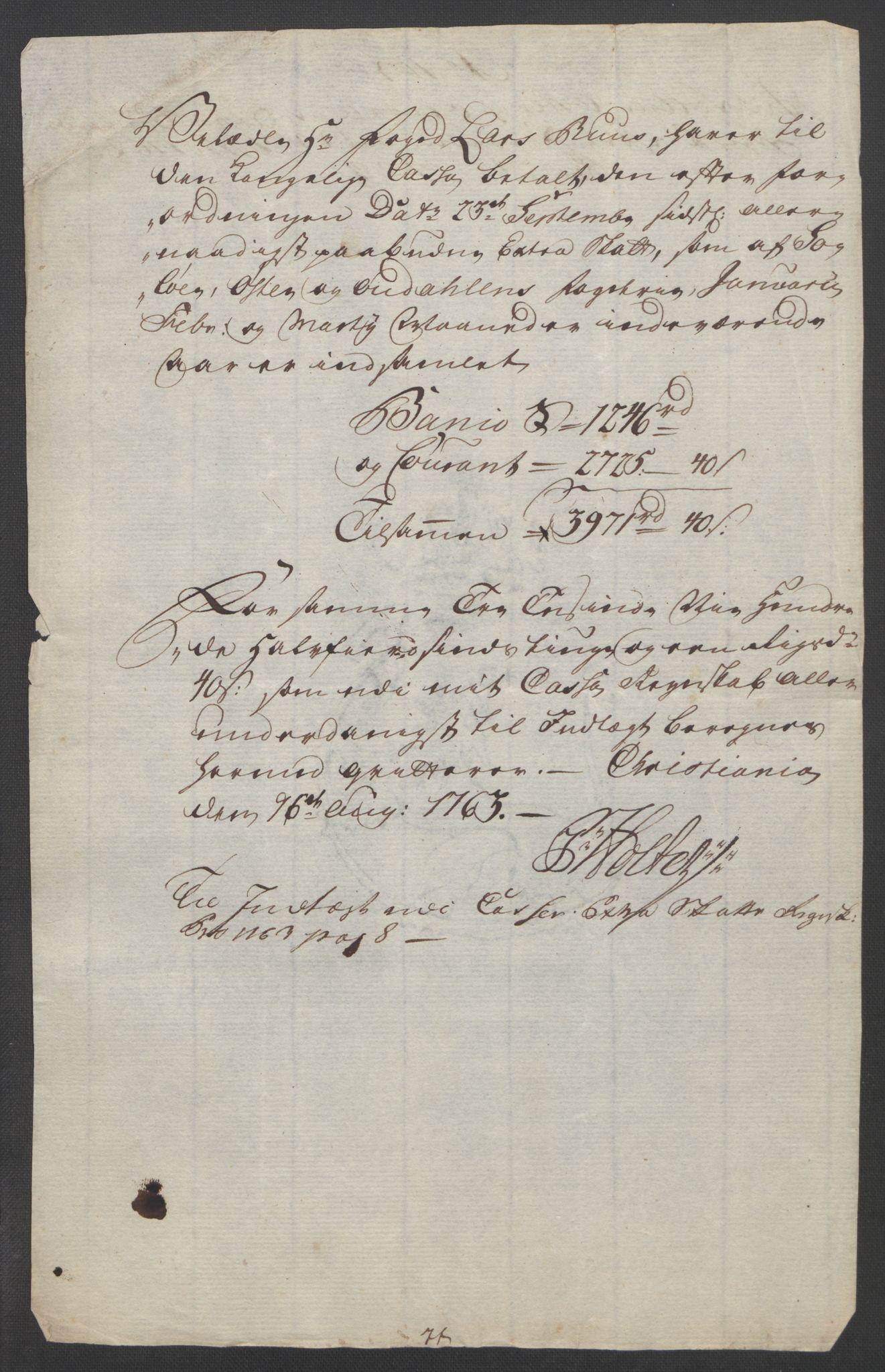 RA, Rentekammeret inntil 1814, Reviderte regnskaper, Fogderegnskap, R14/L0959: Ekstraskatten Solør og Odal, 1763-1770, s. 340