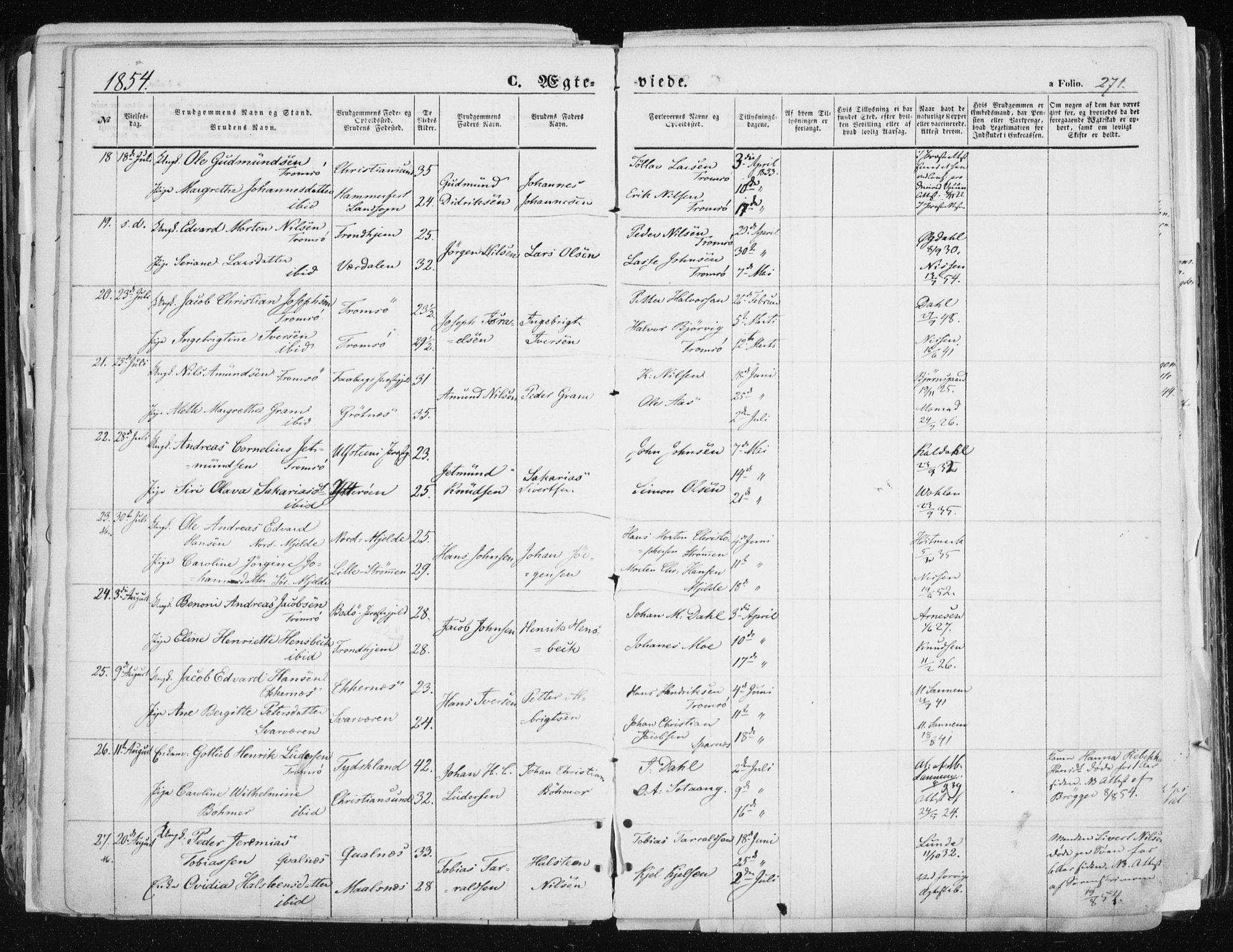 SATØ, Tromsø sokneprestkontor/stiftsprosti/domprosti, G/Ga/L0010kirke: Ministerialbok nr. 10, 1848-1855, s. 271
