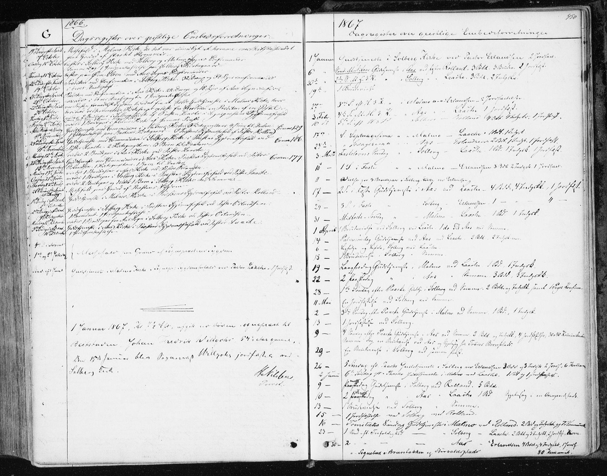 SAT, Ministerialprotokoller, klokkerbøker og fødselsregistre - Nord-Trøndelag, 741/L0394: Ministerialbok nr. 741A08, 1864-1877, s. 450