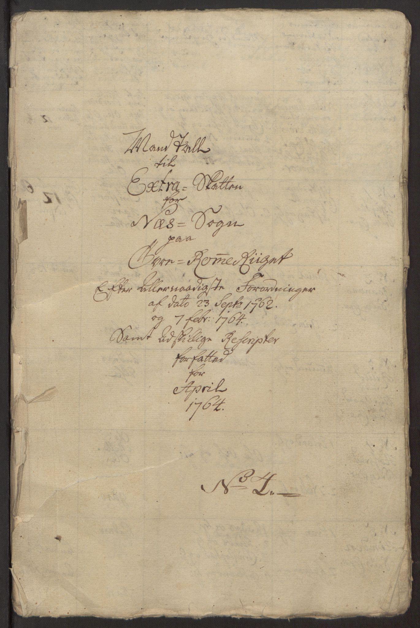 RA, Rentekammeret inntil 1814, Reviderte regnskaper, Fogderegnskap, R12/L0803: Ekstraskatten Øvre Romerike, 1763-1764, s. 259