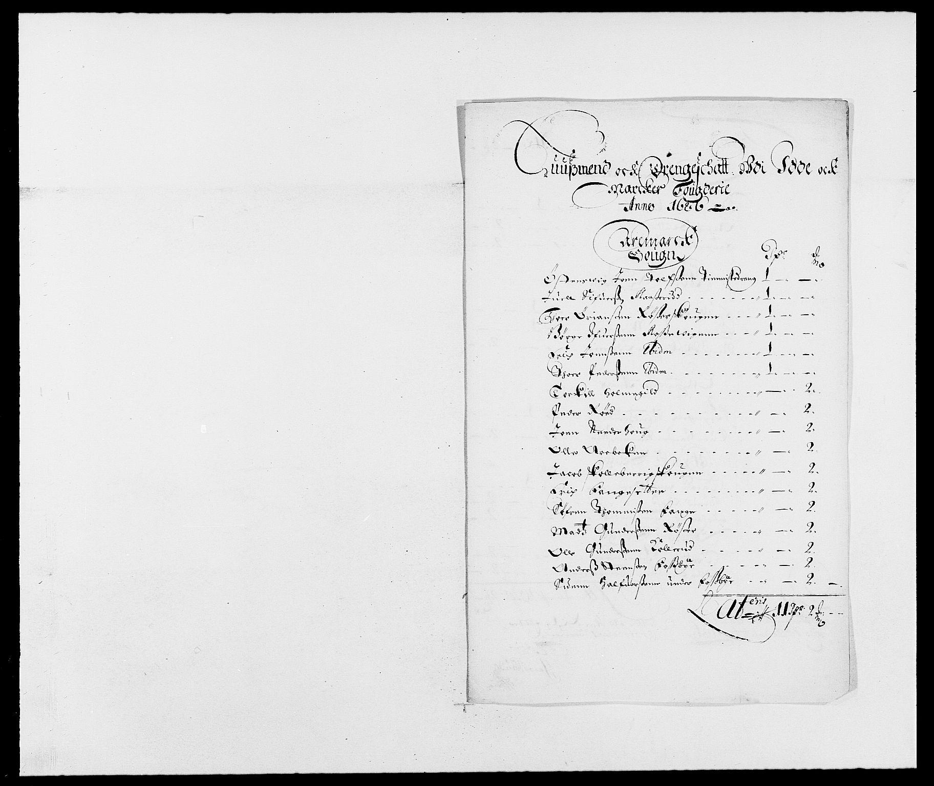 RA, Rentekammeret inntil 1814, Reviderte regnskaper, Fogderegnskap, R01/L0006: Fogderegnskap Idd og Marker, 1685-1686, s. 361