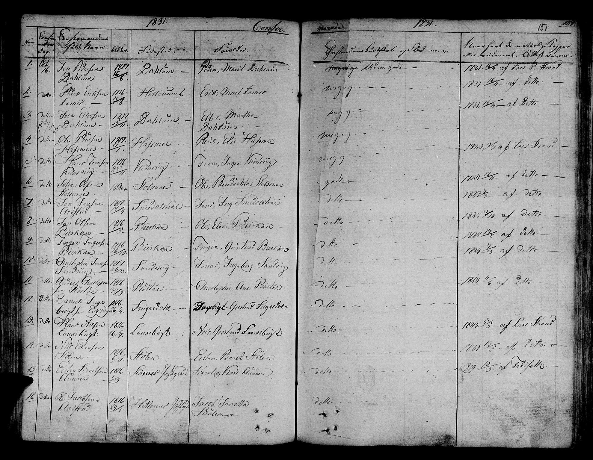 SAT, Ministerialprotokoller, klokkerbøker og fødselsregistre - Sør-Trøndelag, 630/L0492: Ministerialbok nr. 630A05, 1830-1840, s. 151