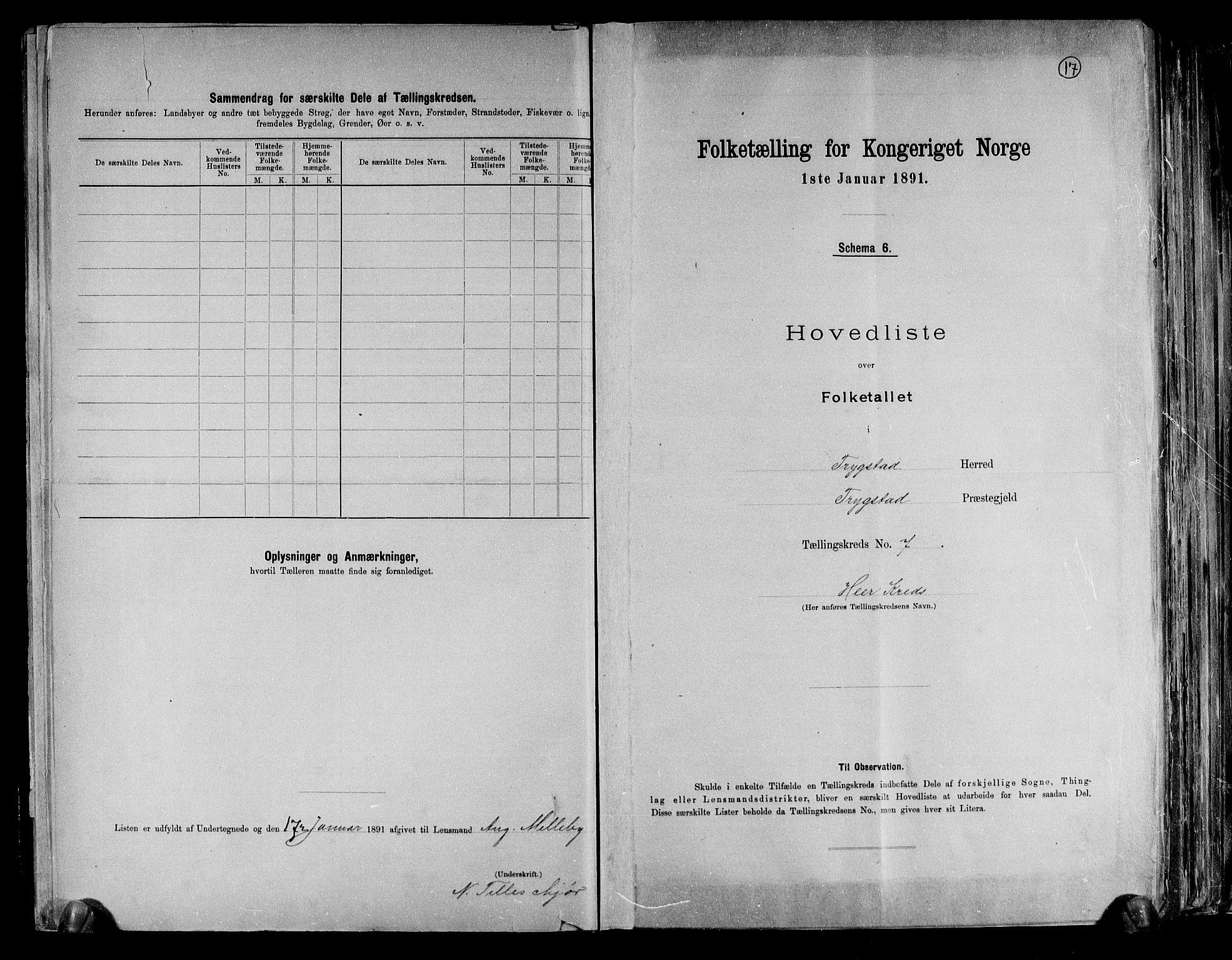 RA, Folketelling 1891 for 0122 Trøgstad herred, 1891, s. 17