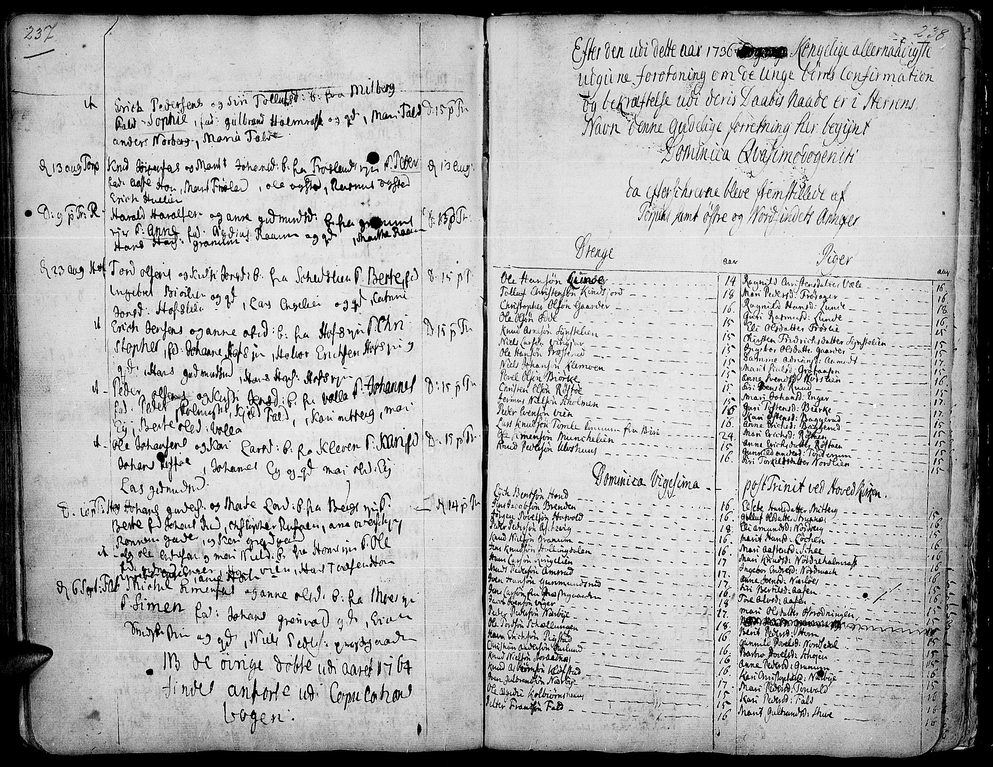 SAH, Land prestekontor, Ministerialbok nr. 2, 1733-1764, s. 237-238