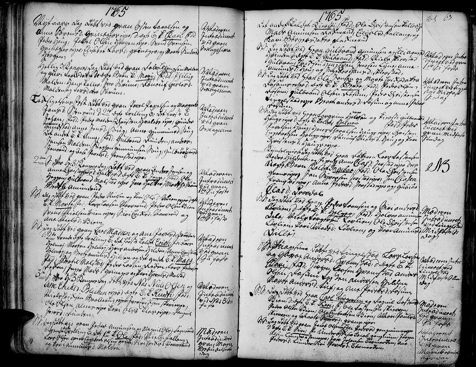SAH, Gran prestekontor, Ministerialbok nr. 4, 1759-1775, s. 63