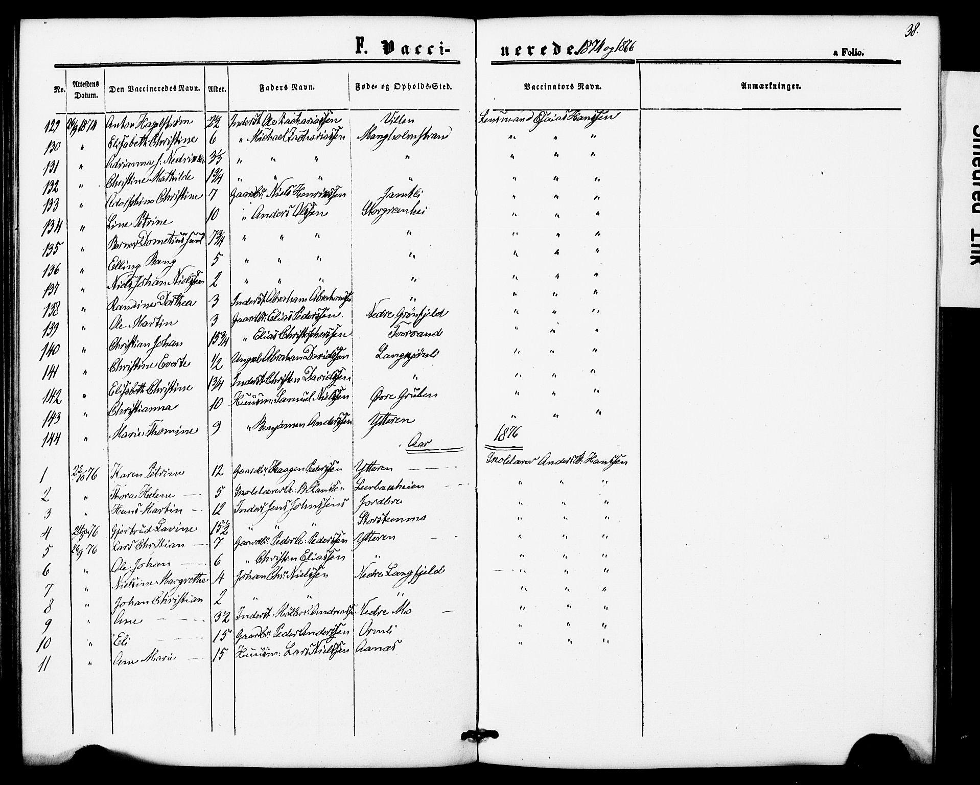 SAT, Ministerialprotokoller, klokkerbøker og fødselsregistre - Nordland, 827/L0397: Ministerialbok nr. 827A09, 1862-1876, s. 38