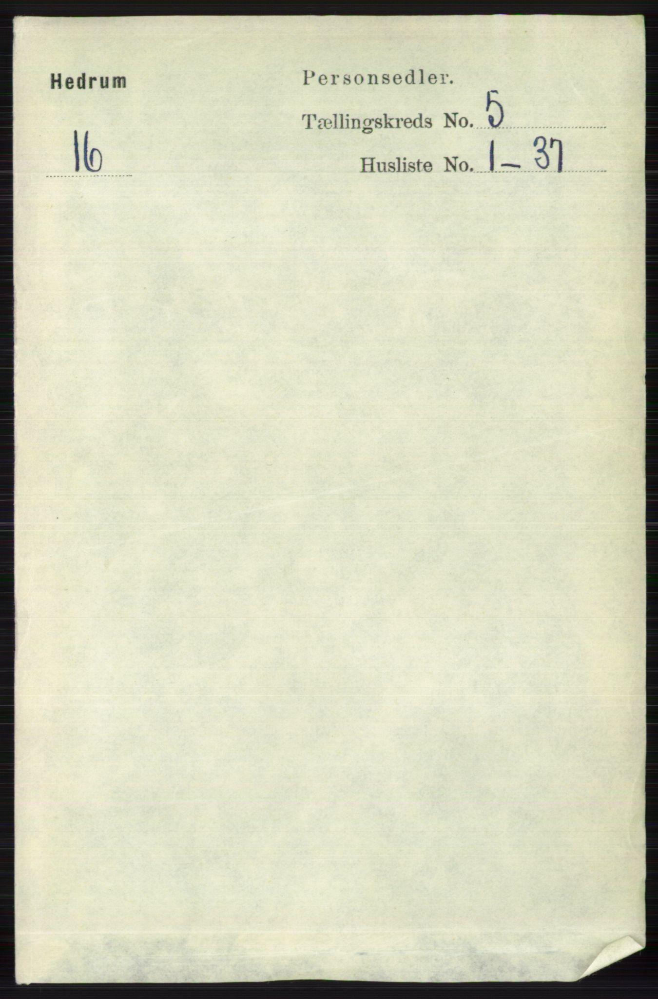 RA, Folketelling 1891 for 0727 Hedrum herred, 1891, s. 1965