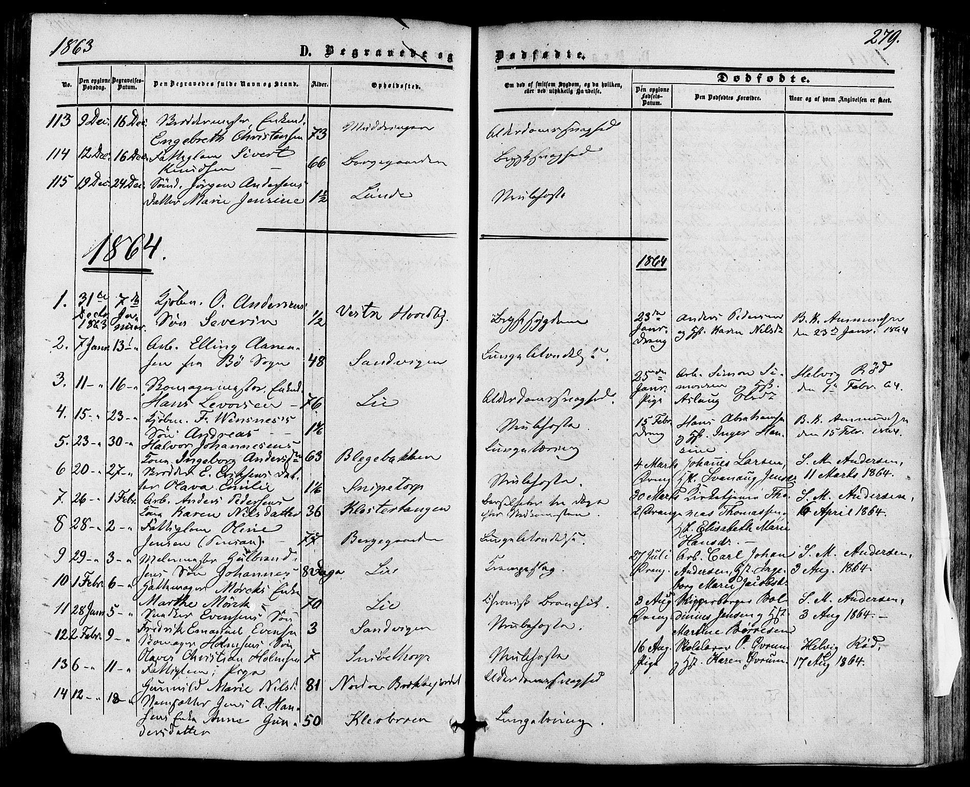 SAKO, Skien kirkebøker, F/Fa/L0007: Ministerialbok nr. 7, 1856-1865, s. 279