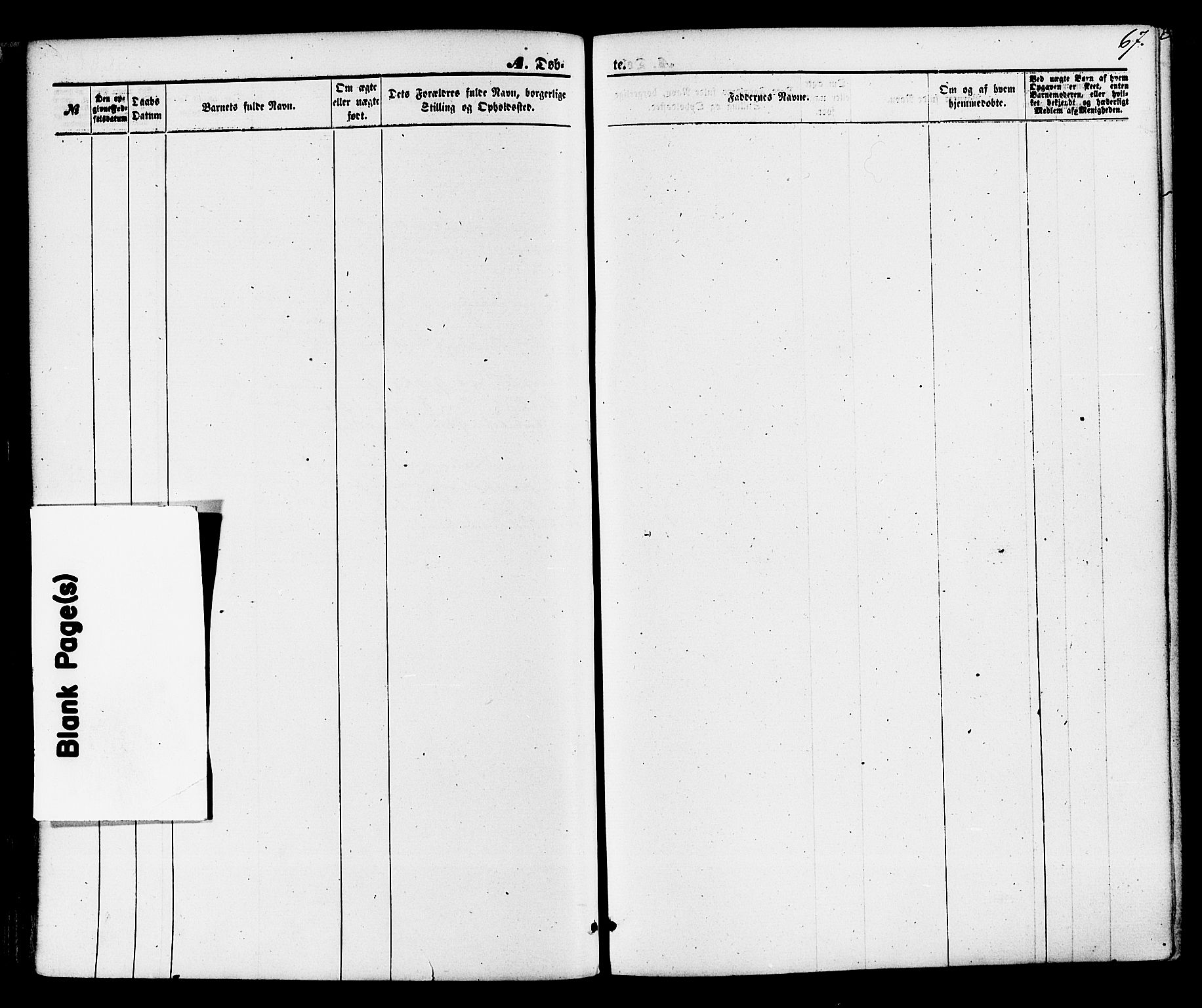 SAKO, Gjerpen kirkebøker, F/Fa/L0009: Ministerialbok nr. 9, 1872-1885, s. 67