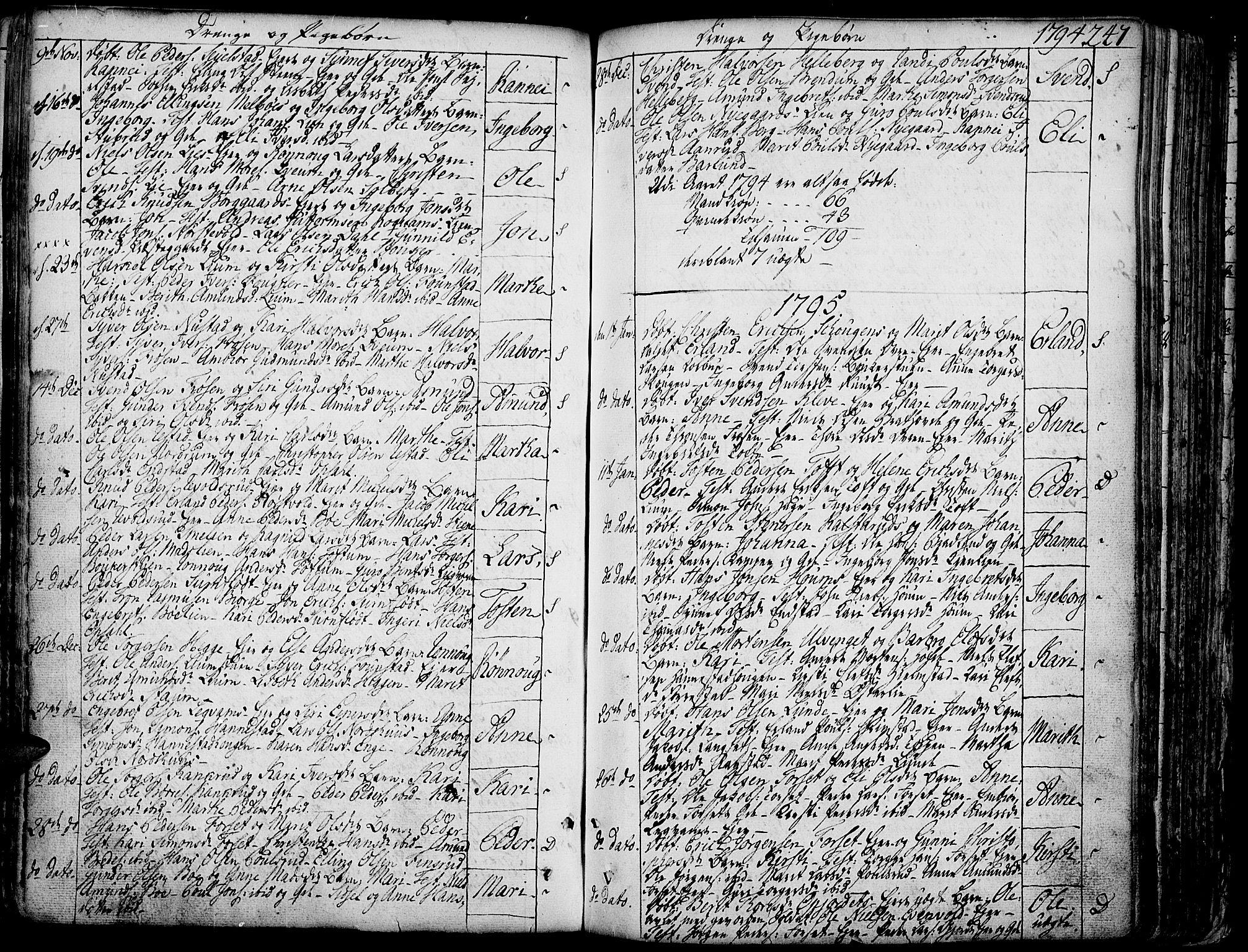 SAH, Gausdal prestekontor, Ministerialbok nr. 3, 1758-1809, s. 247