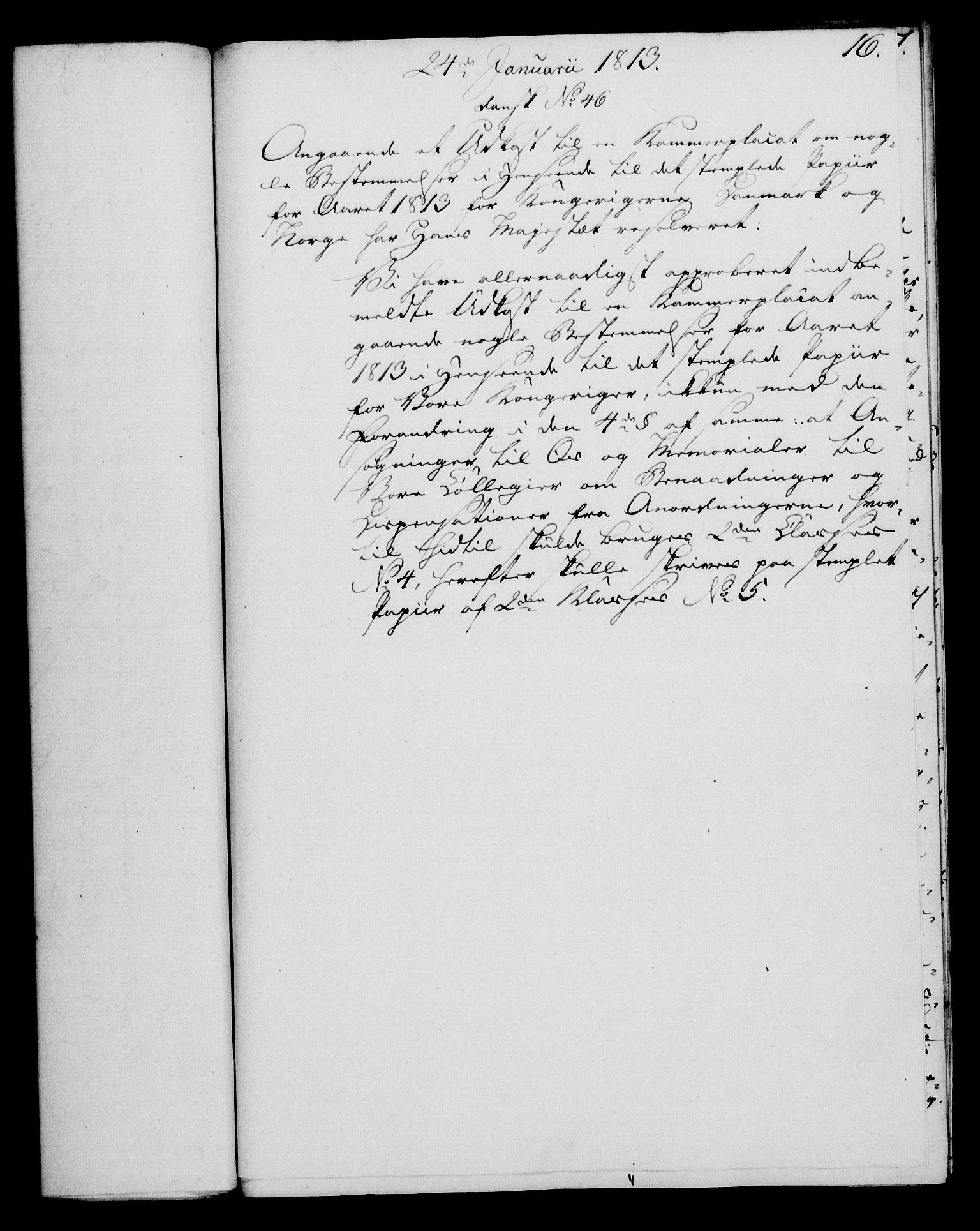 RA, Rentekammeret, Kammerkanselliet, G/Gf/Gfa/L0095: Norsk relasjons- og resolusjonsprotokoll (merket RK 52.95), 1813-1814, s. 83
