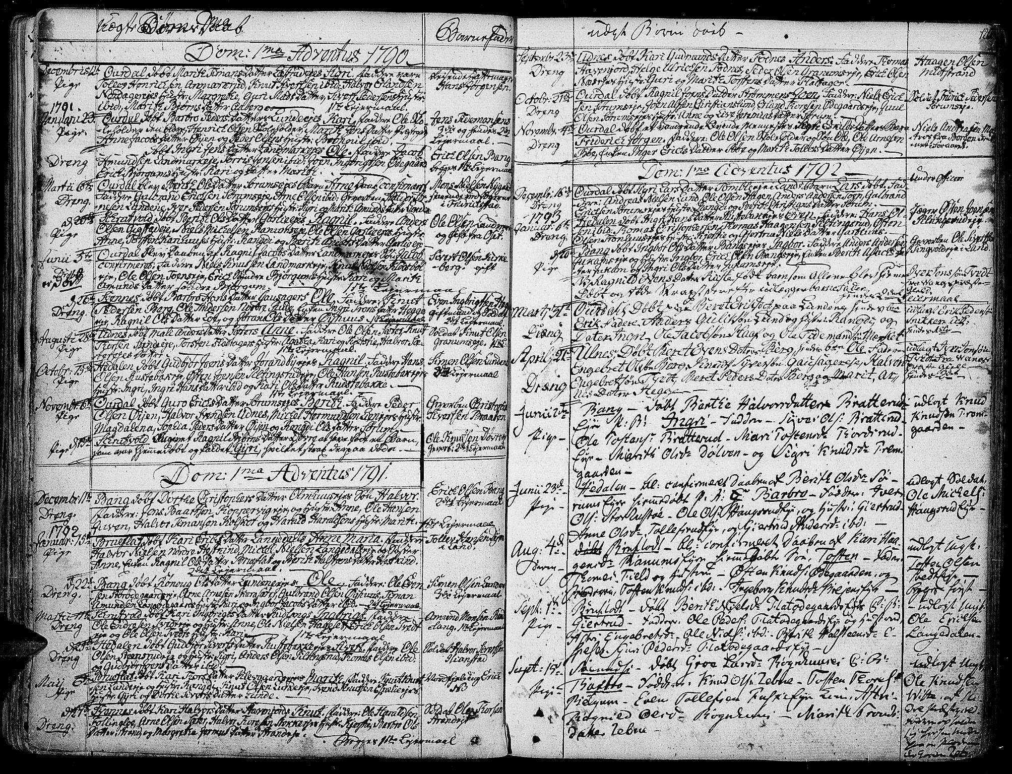 SAH, Aurdal prestekontor, Ministerialbok nr. 6, 1781-1804, s. 126