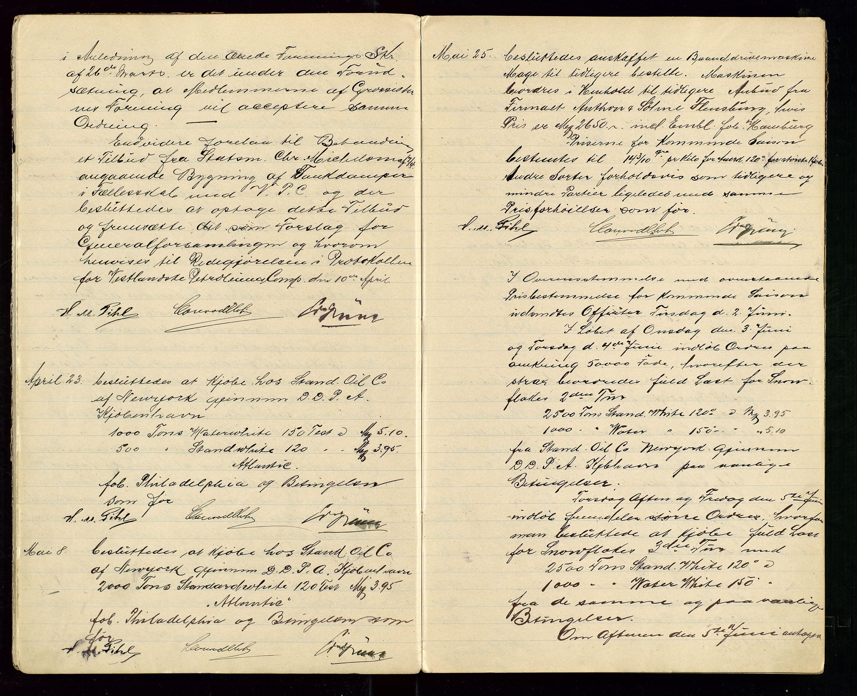 SAST, PA 1533 - A/S Vestlandske Petroleumscompani, A/Aa/L0001: Generalforsamlinger og styreprotokoller, 1907-1915, s. 6