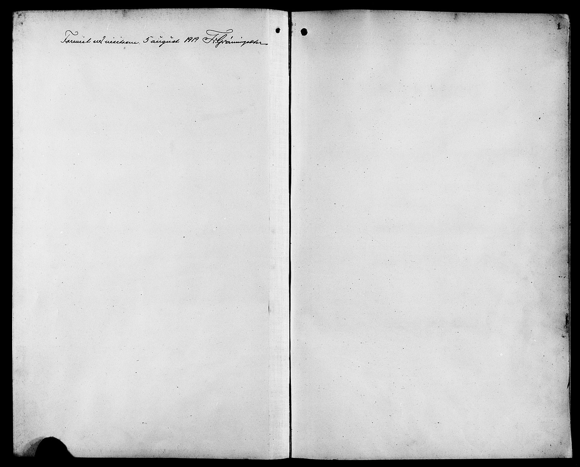 SAB, Bremanger Sokneprestembete, H/Hab: Klokkerbok nr. C 1, 1908-1919, s. 1