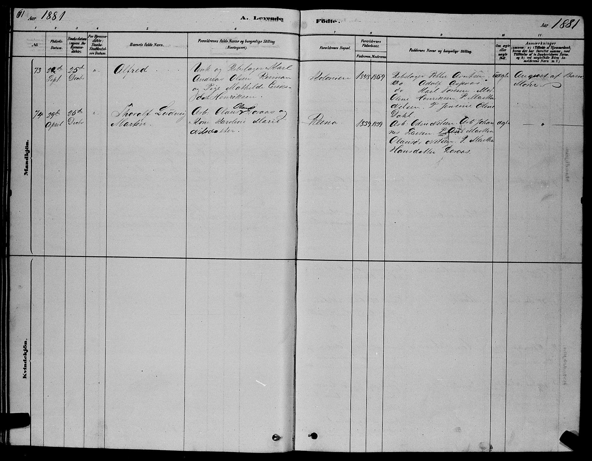 SAT, Ministerialprotokoller, klokkerbøker og fødselsregistre - Sør-Trøndelag, 606/L0312: Klokkerbok nr. 606C08, 1878-1894, s. 61