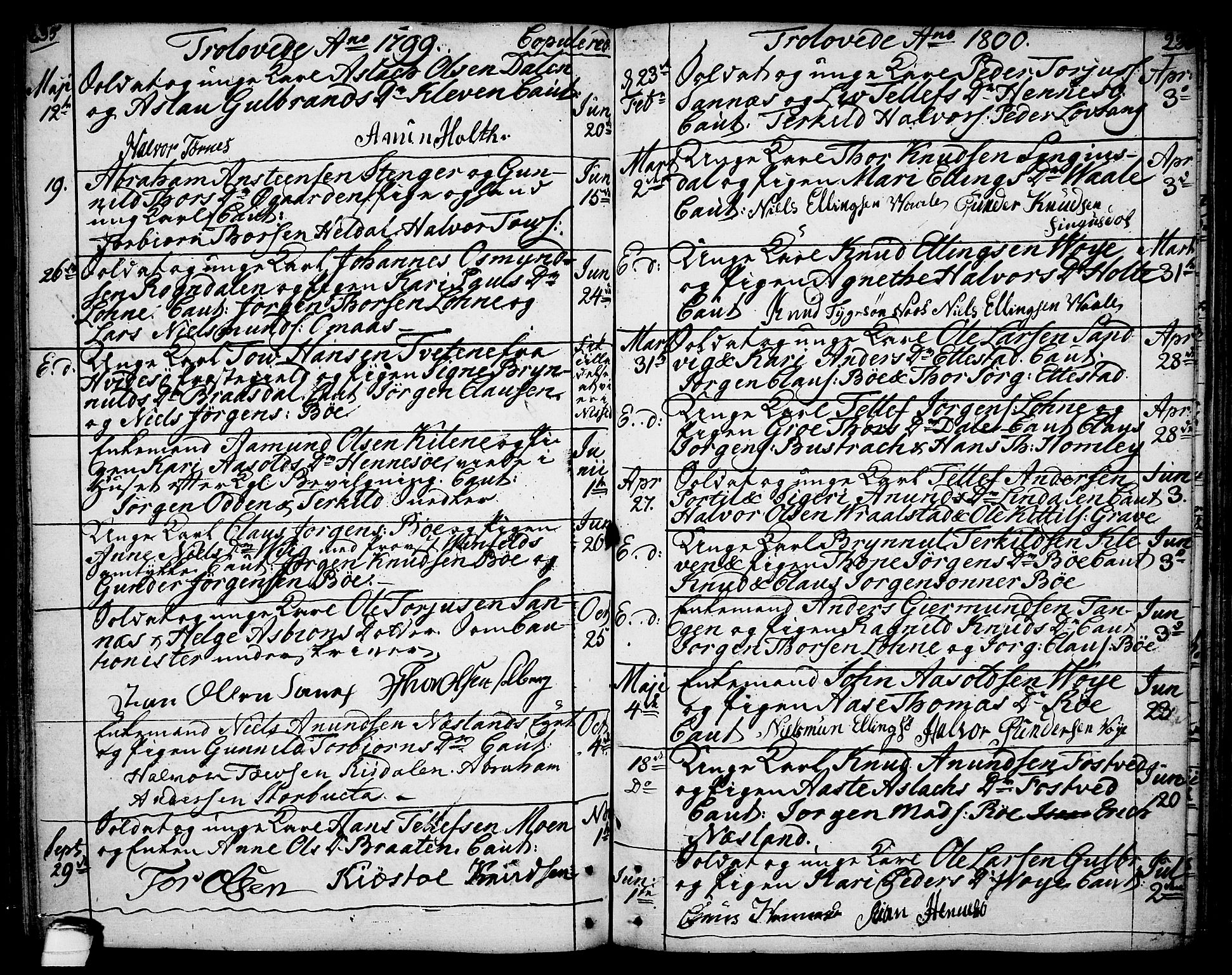 SAKO, Drangedal kirkebøker, F/Fa/L0003: Ministerialbok nr. 3, 1768-1814, s. 235-236