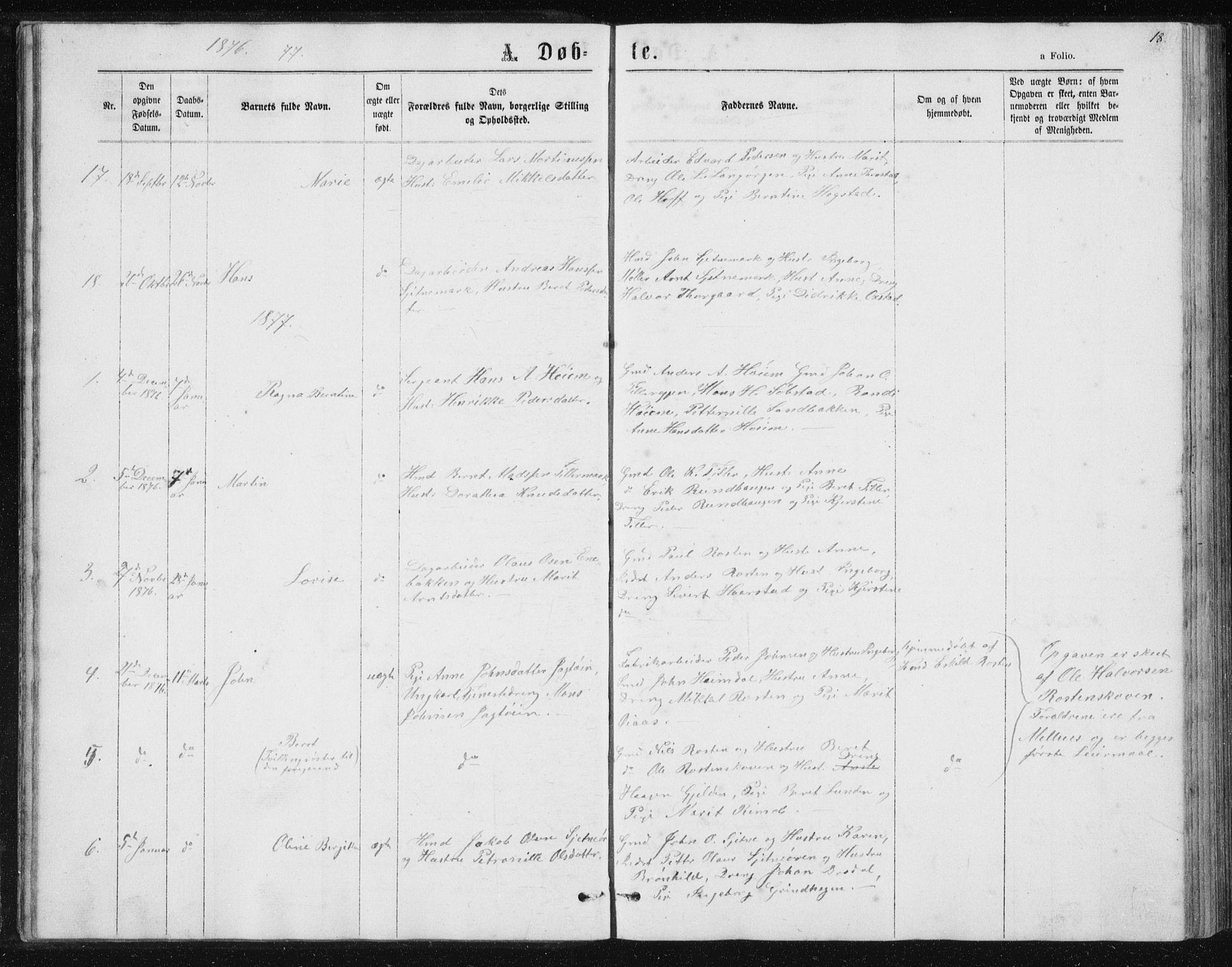 SAT, Ministerialprotokoller, klokkerbøker og fødselsregistre - Sør-Trøndelag, 621/L0459: Klokkerbok nr. 621C02, 1866-1895, s. 18