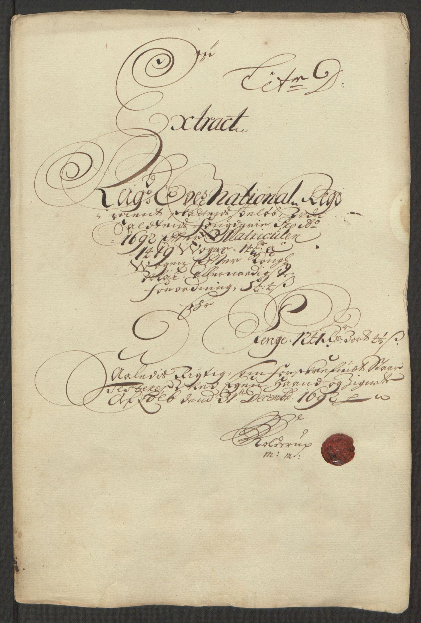 RA, Rentekammeret inntil 1814, Reviderte regnskaper, Fogderegnskap, R66/L4577: Fogderegnskap Salten, 1691-1693, s. 177