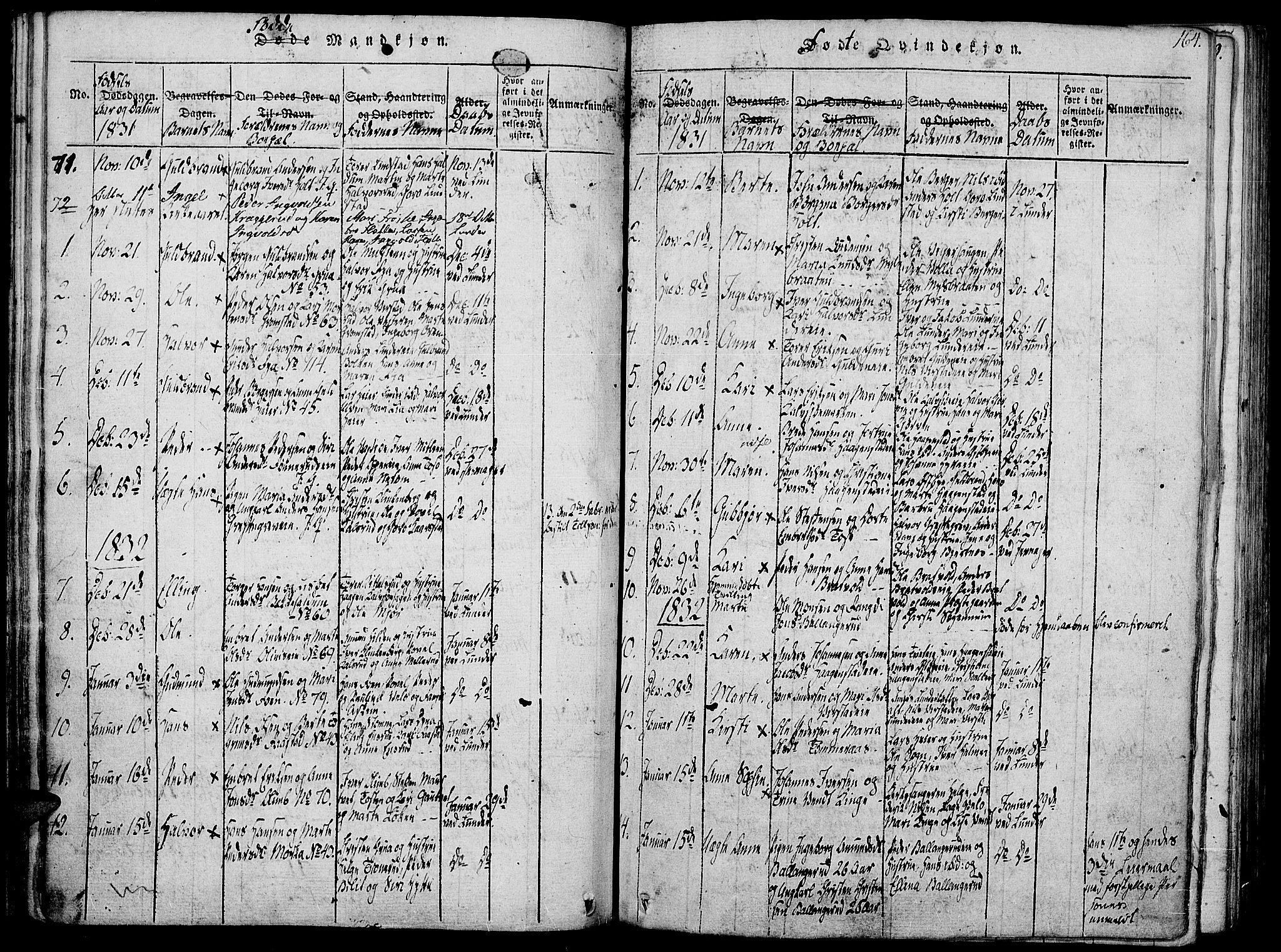 SAH, Jevnaker prestekontor, Ministerialbok nr. 5, 1815-1837, s. 164