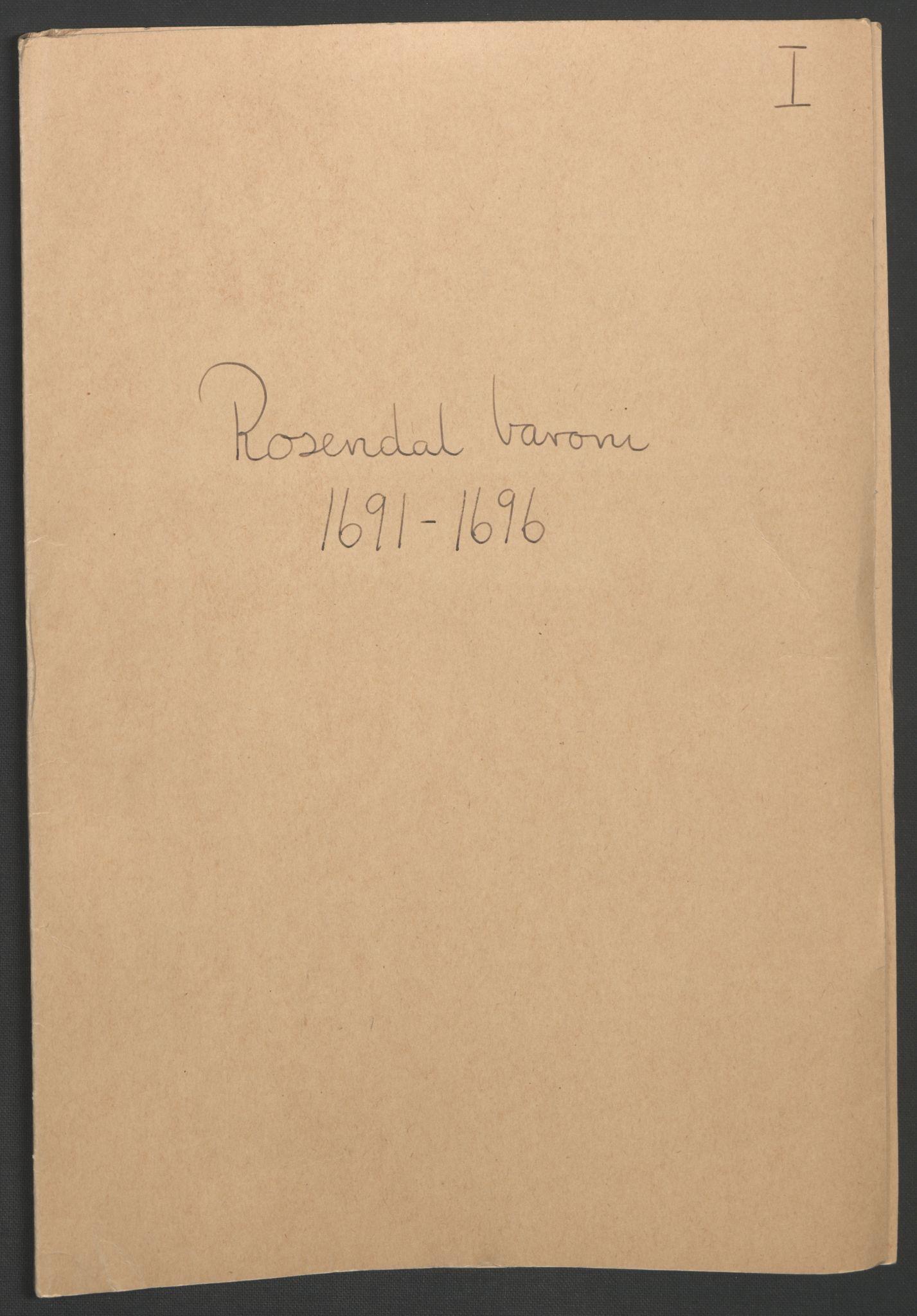 RA, Rentekammeret inntil 1814, Reviderte regnskaper, Fogderegnskap, R49/L3138: Fogderegnskap Rosendal Baroni, 1691-1714, s. 2