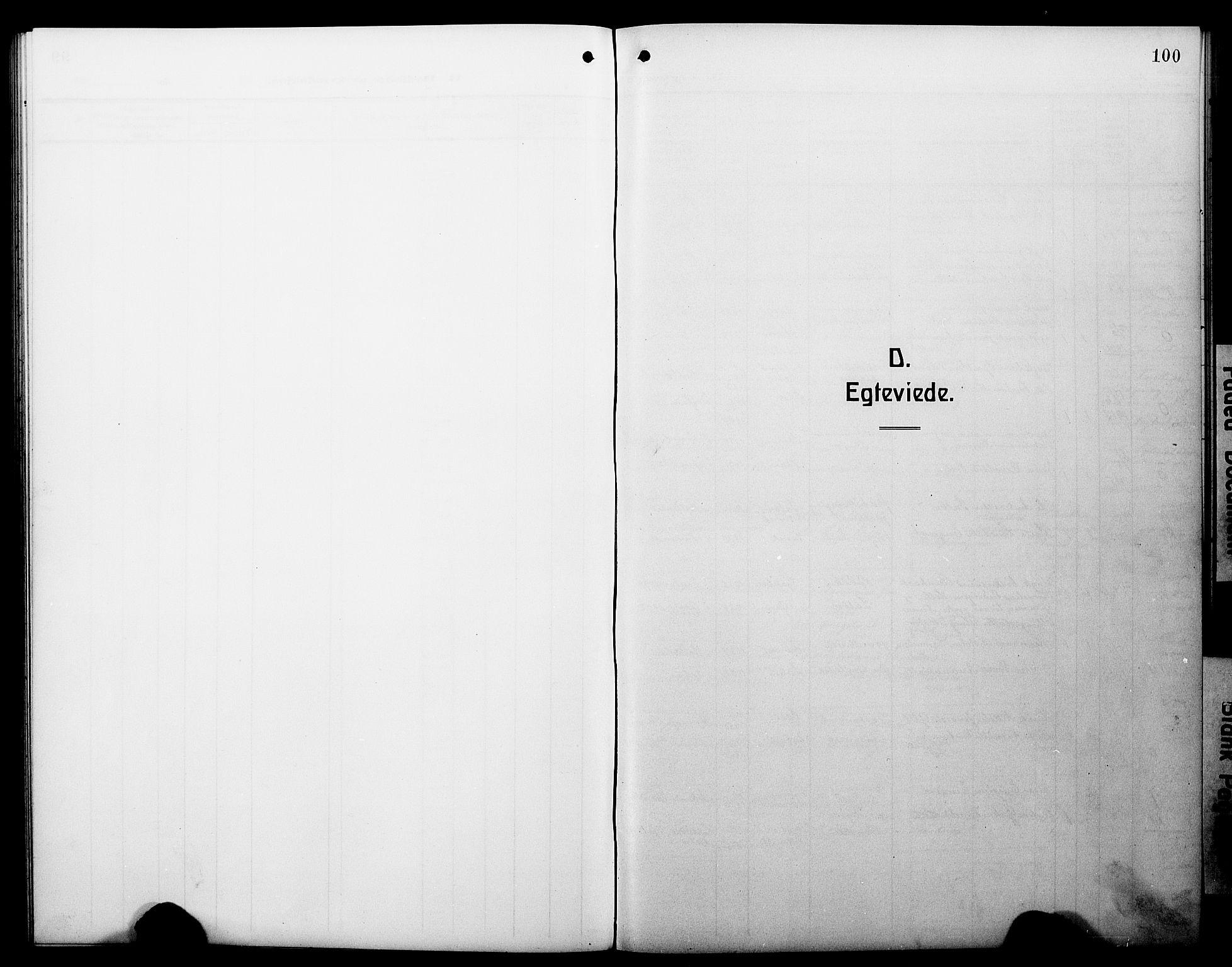 SAB, Hyllestad Sokneprestembete, Klokkerbok nr. C 4, 1914-1927, s. 100