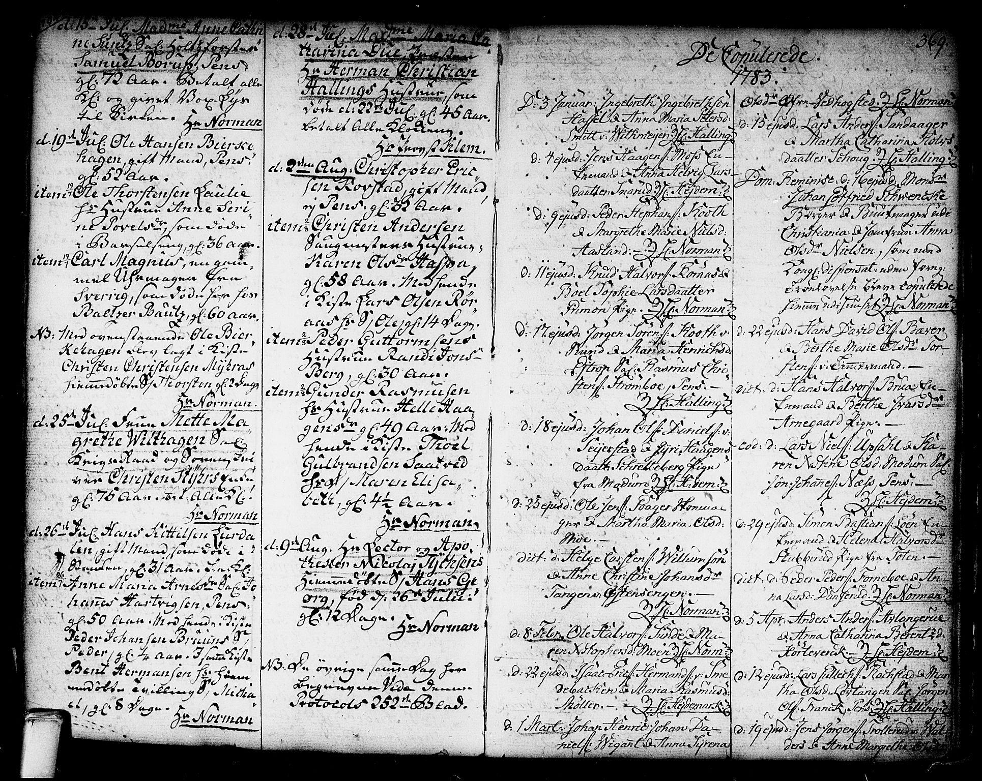 SAKO, Kongsberg kirkebøker, F/Fa/L0006: Ministerialbok nr. I 6, 1783-1797, s. 369