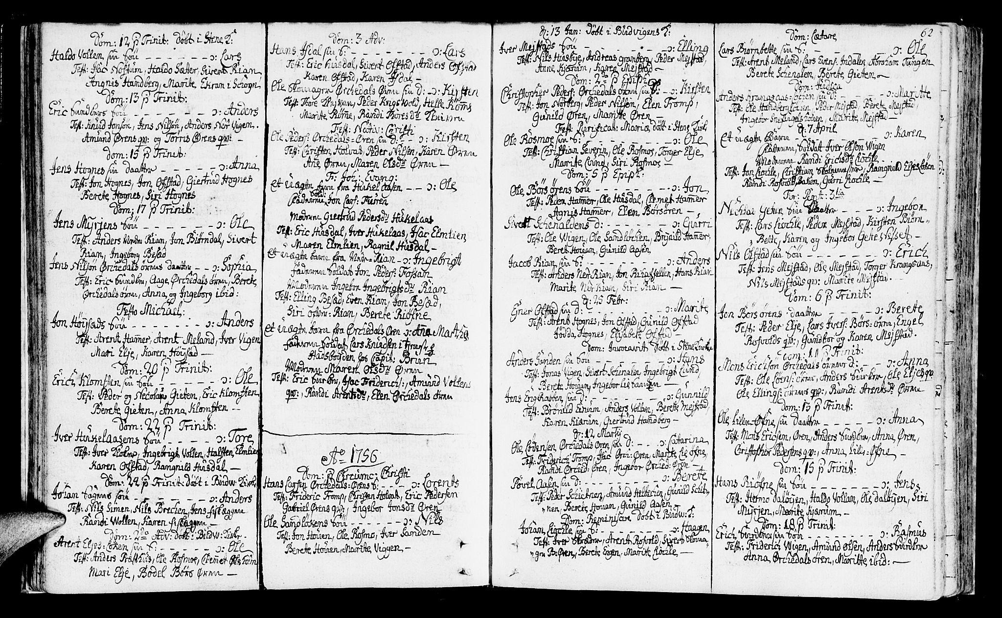 SAT, Ministerialprotokoller, klokkerbøker og fødselsregistre - Sør-Trøndelag, 665/L0768: Ministerialbok nr. 665A03, 1754-1803, s. 62