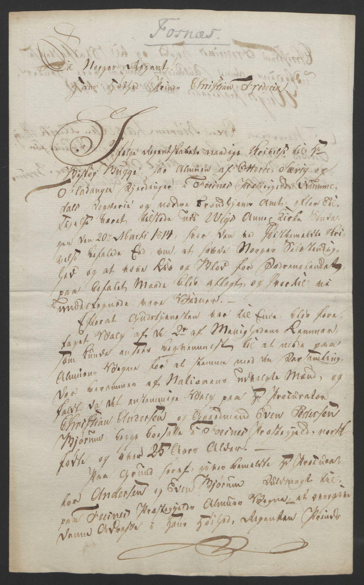 RA, Statsrådssekretariatet, D/Db/L0008: Fullmakter for Eidsvollsrepresentantene i 1814. , 1814, s. 467